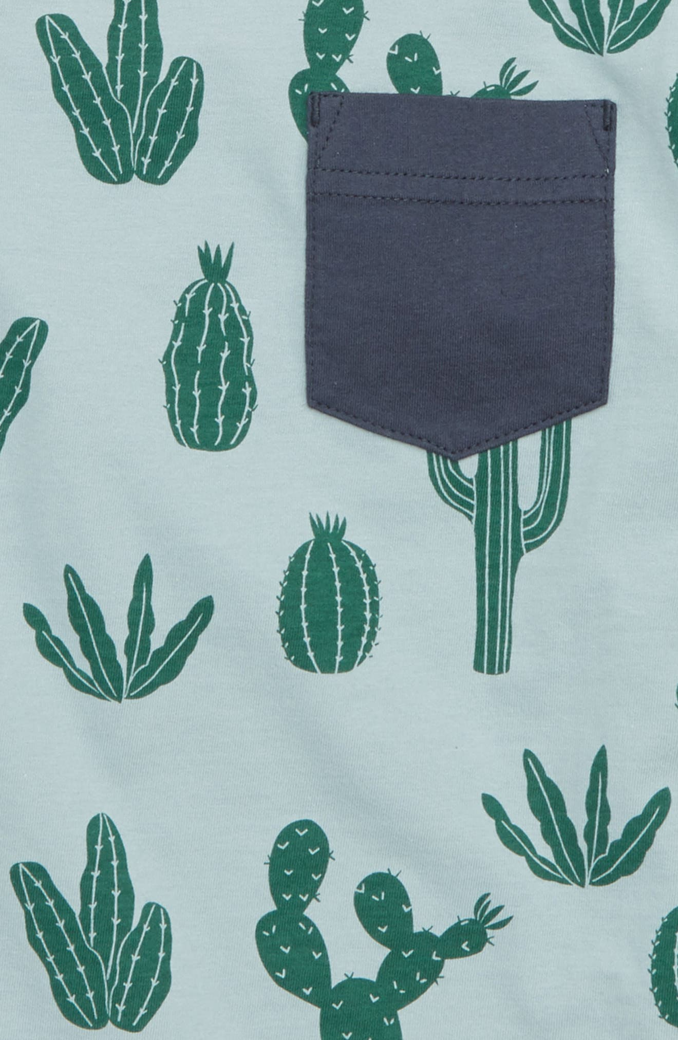 Fish Graphic Pocket T-Shirt,                             Alternate thumbnail 2, color,                             Classic Cactii
