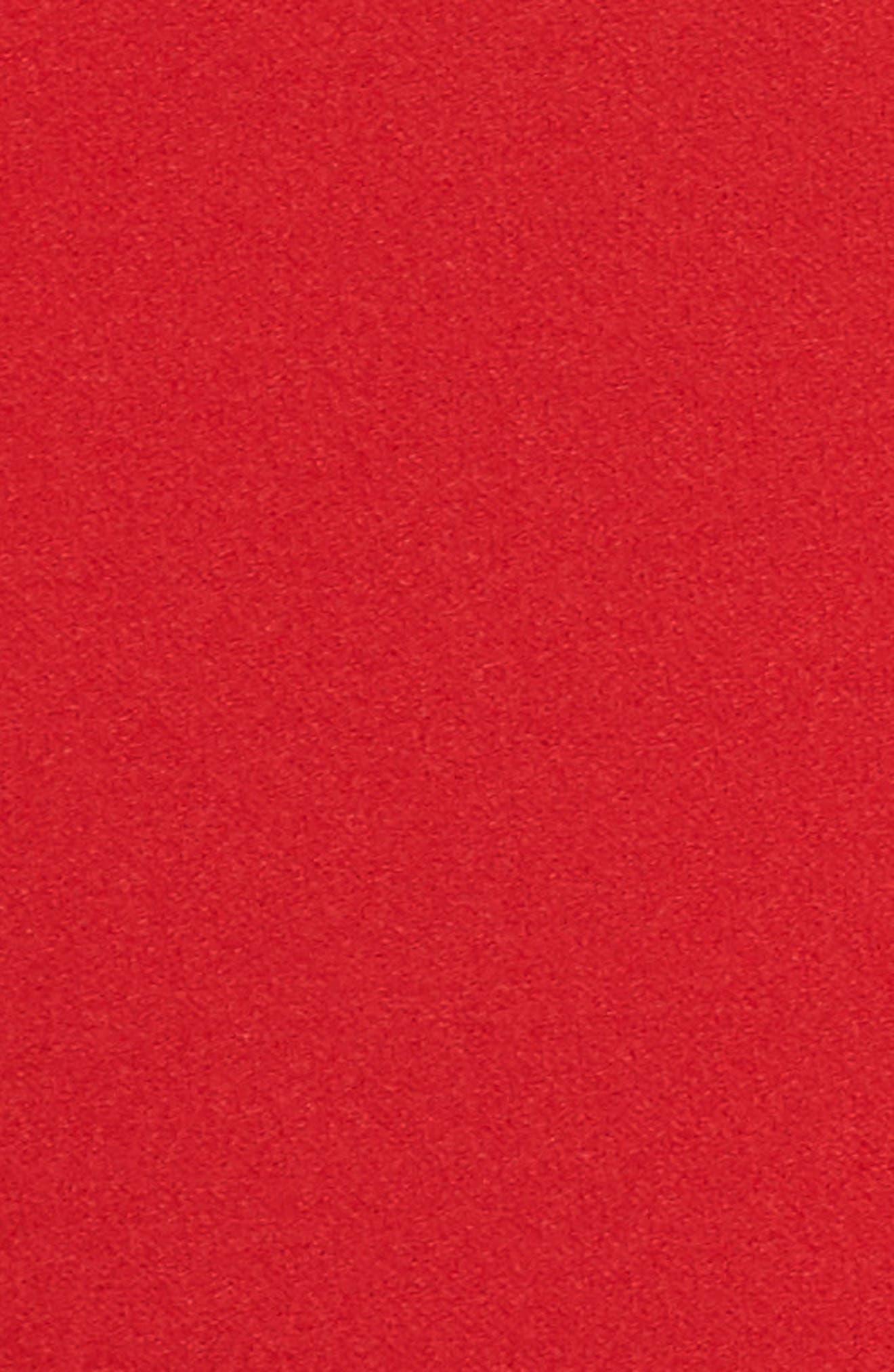 Strapless Culotte Jumpsuit,                             Alternate thumbnail 6, color,                             Red