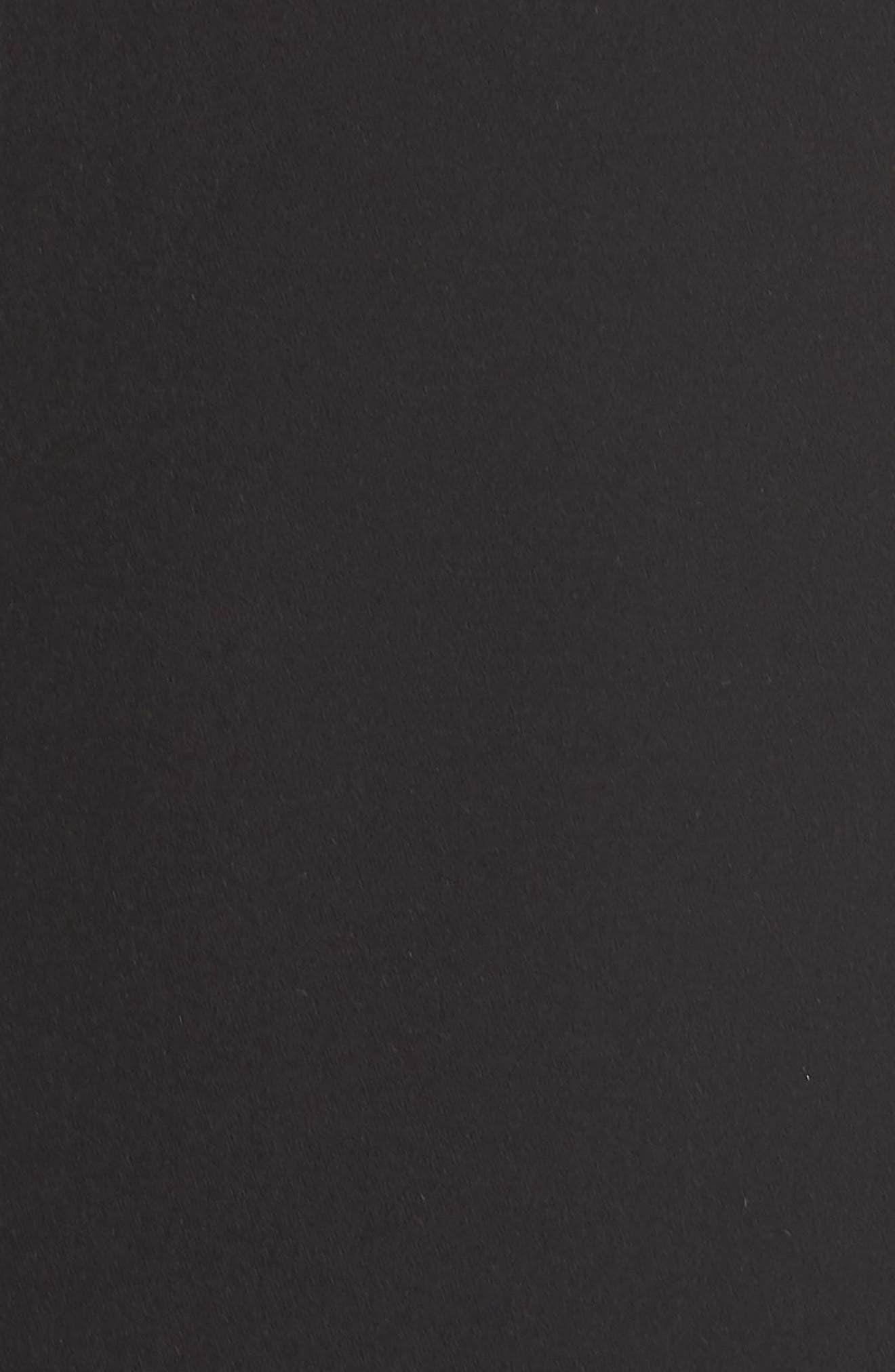 Bustier Ruffle Hem Dress,                             Alternate thumbnail 6, color,                             Black