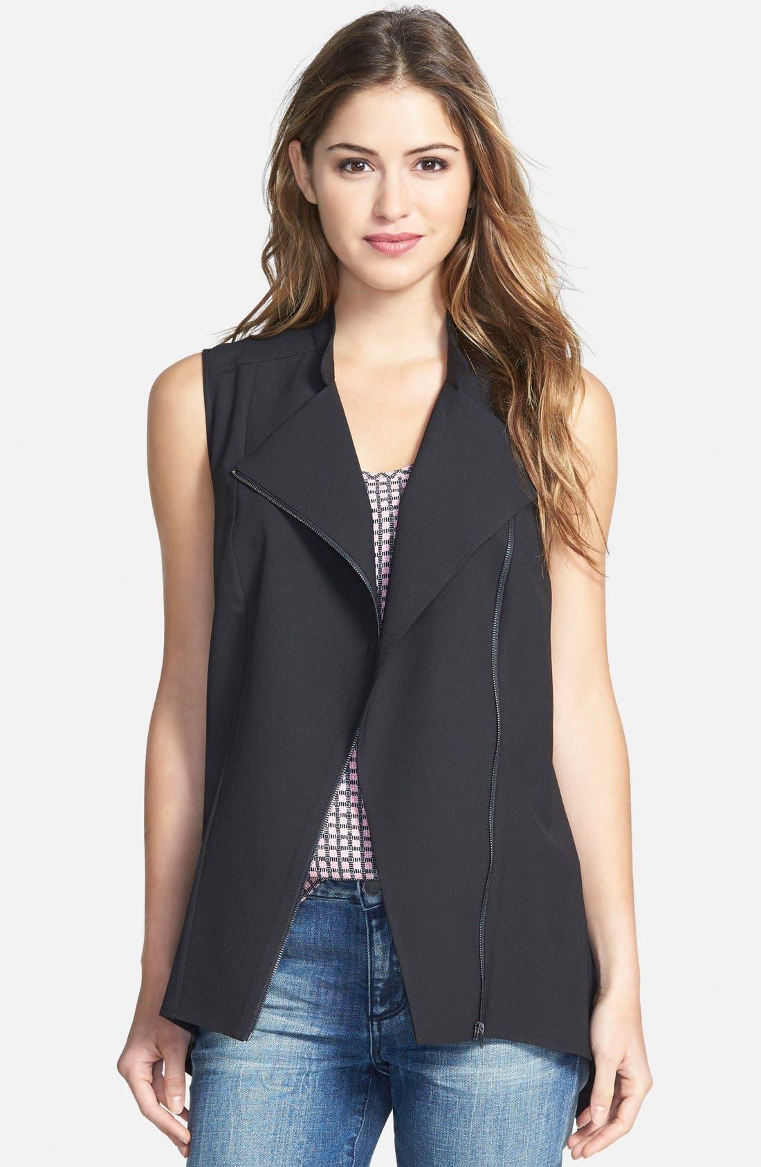 Alternate Image 1 Selected - Pleione Drape Front Vest (Regular & Petite)