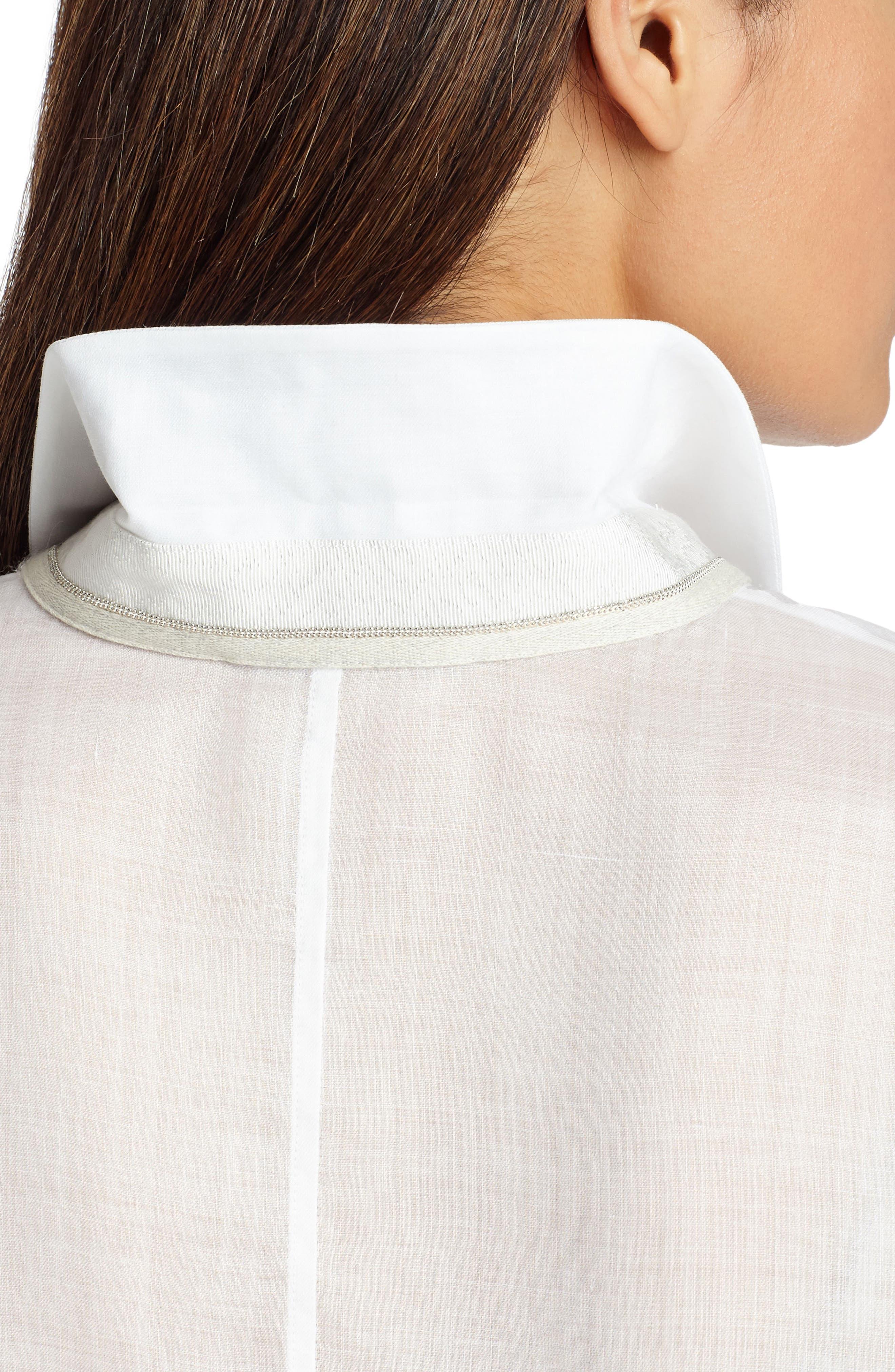 Alyssa Gemma Cloth Blouse,                             Alternate thumbnail 4, color,                             White