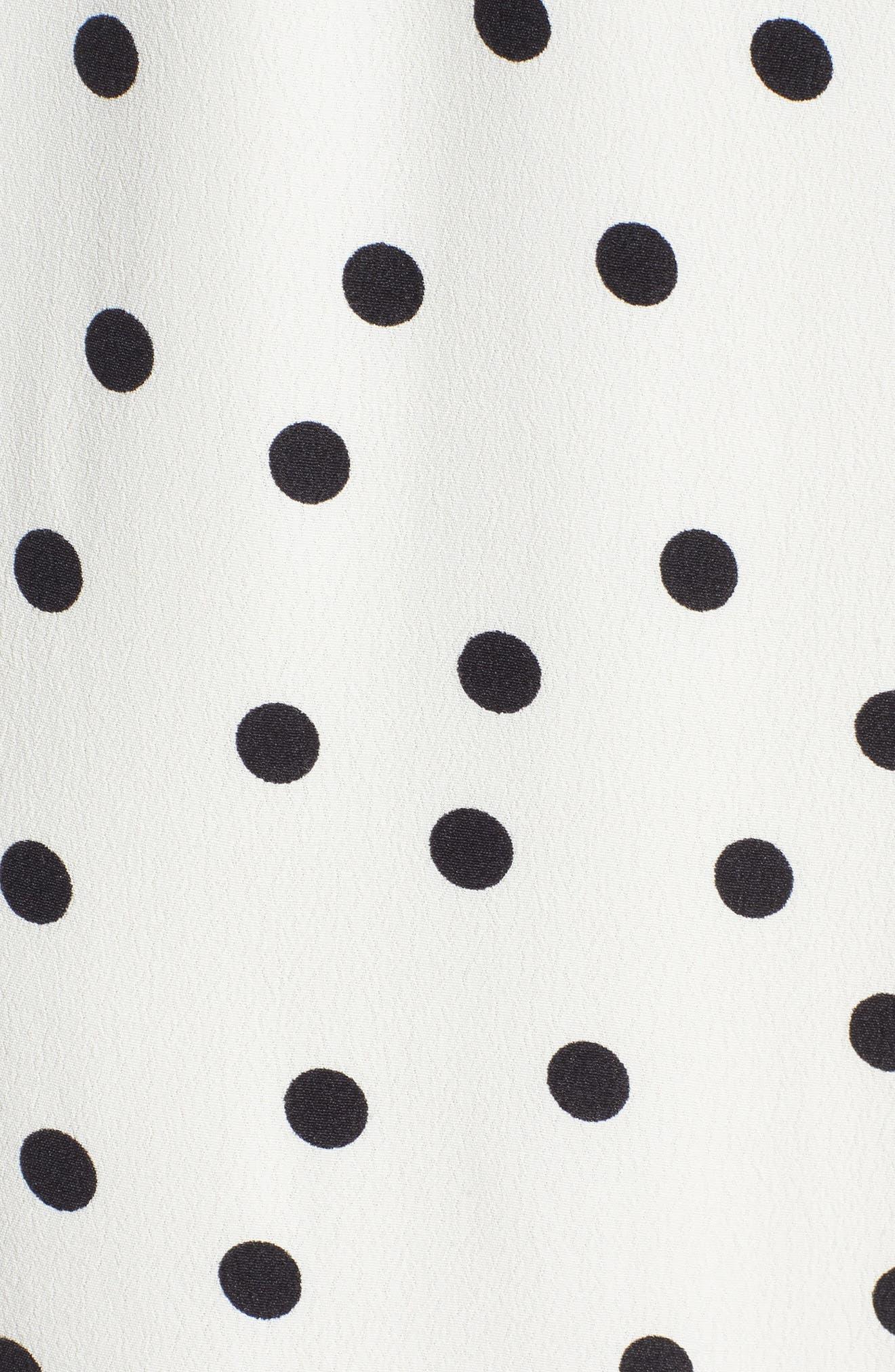 Bridget Midi Dress,                             Alternate thumbnail 6, color,                             Ivory/ Black