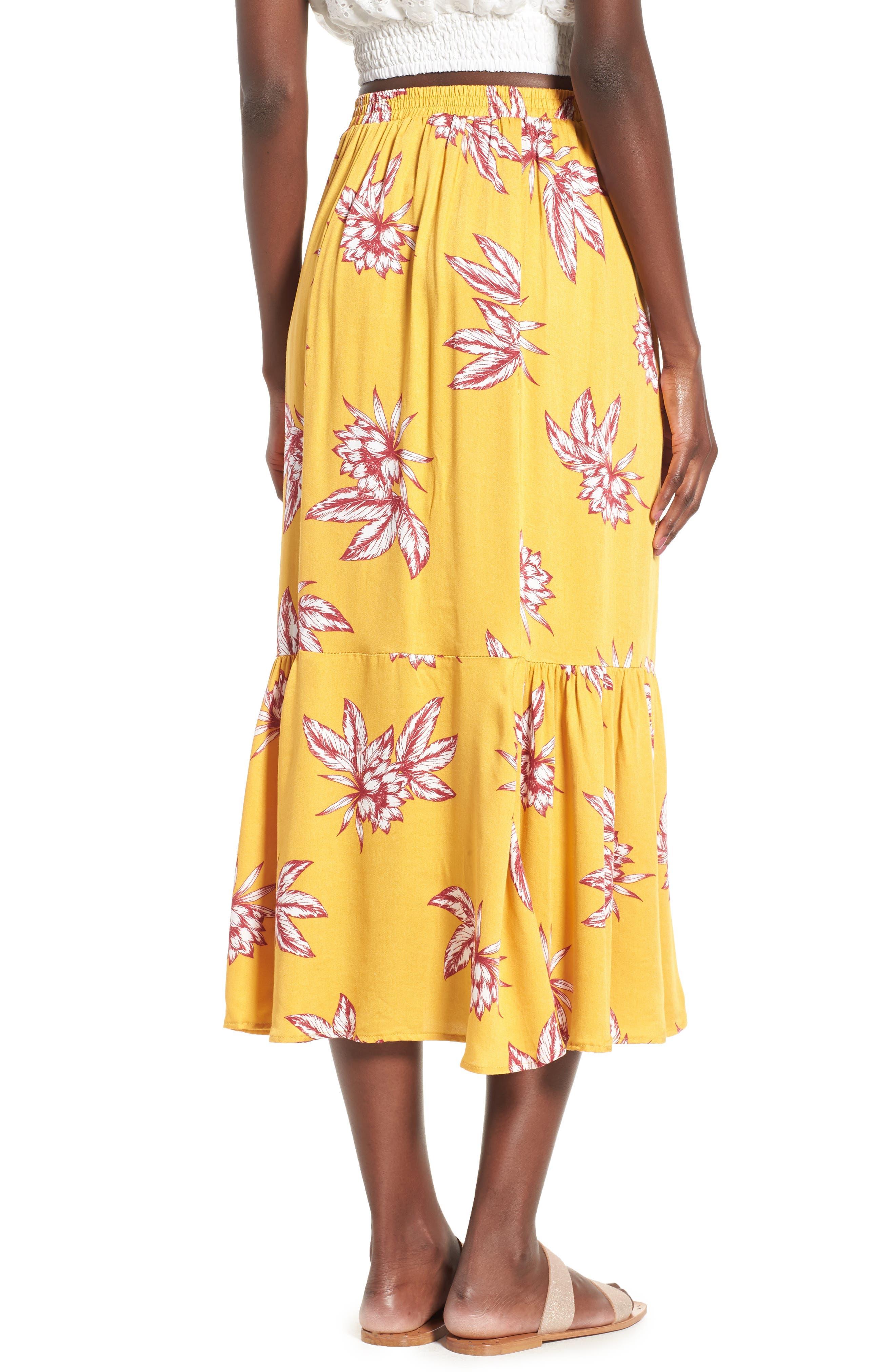 Searing Soul Midi Skirt,                             Alternate thumbnail 3, color,                             Multi