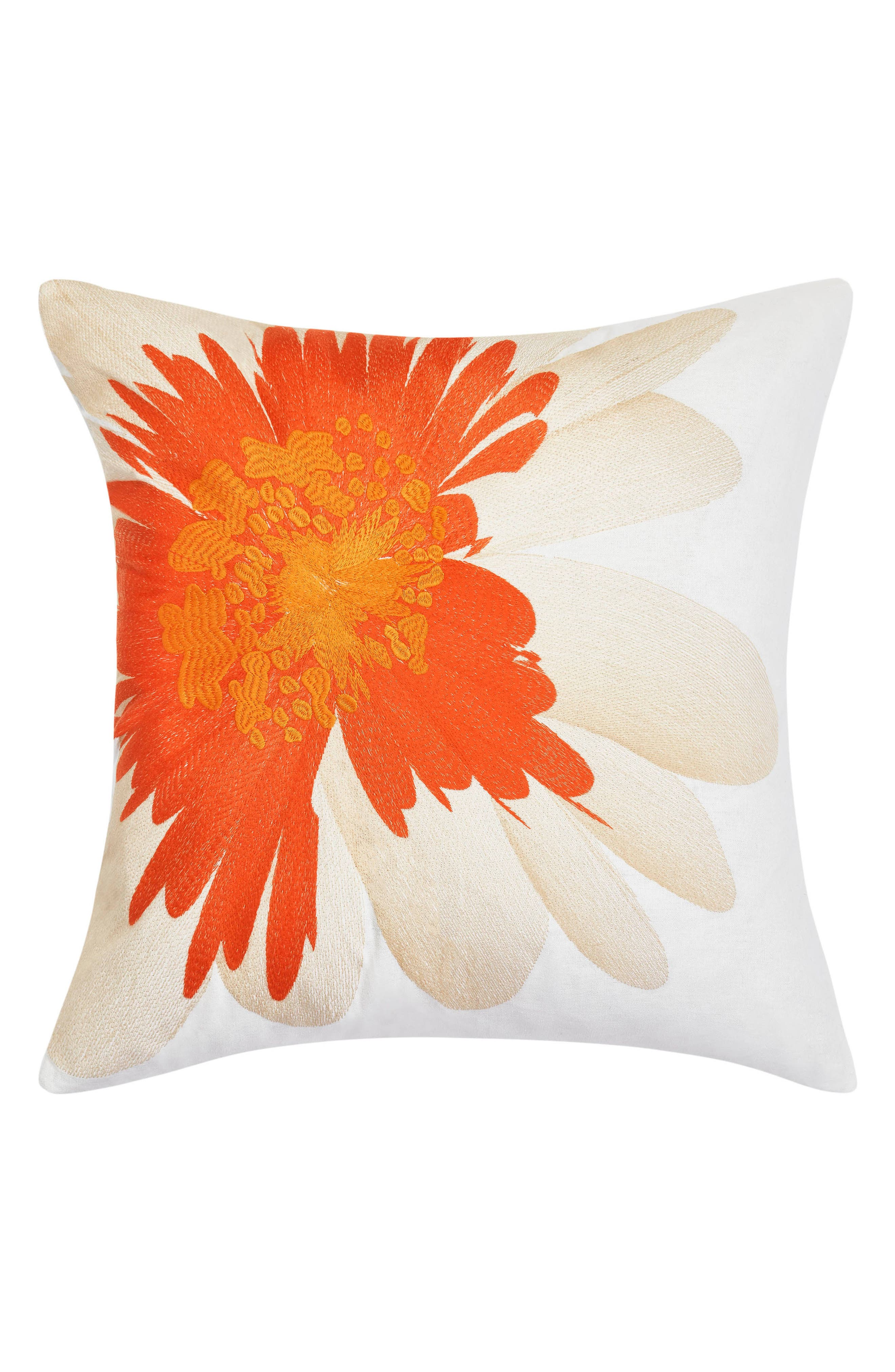 Palm Desert Accent Pillow,                             Main thumbnail 1, color,                             Medium Orange