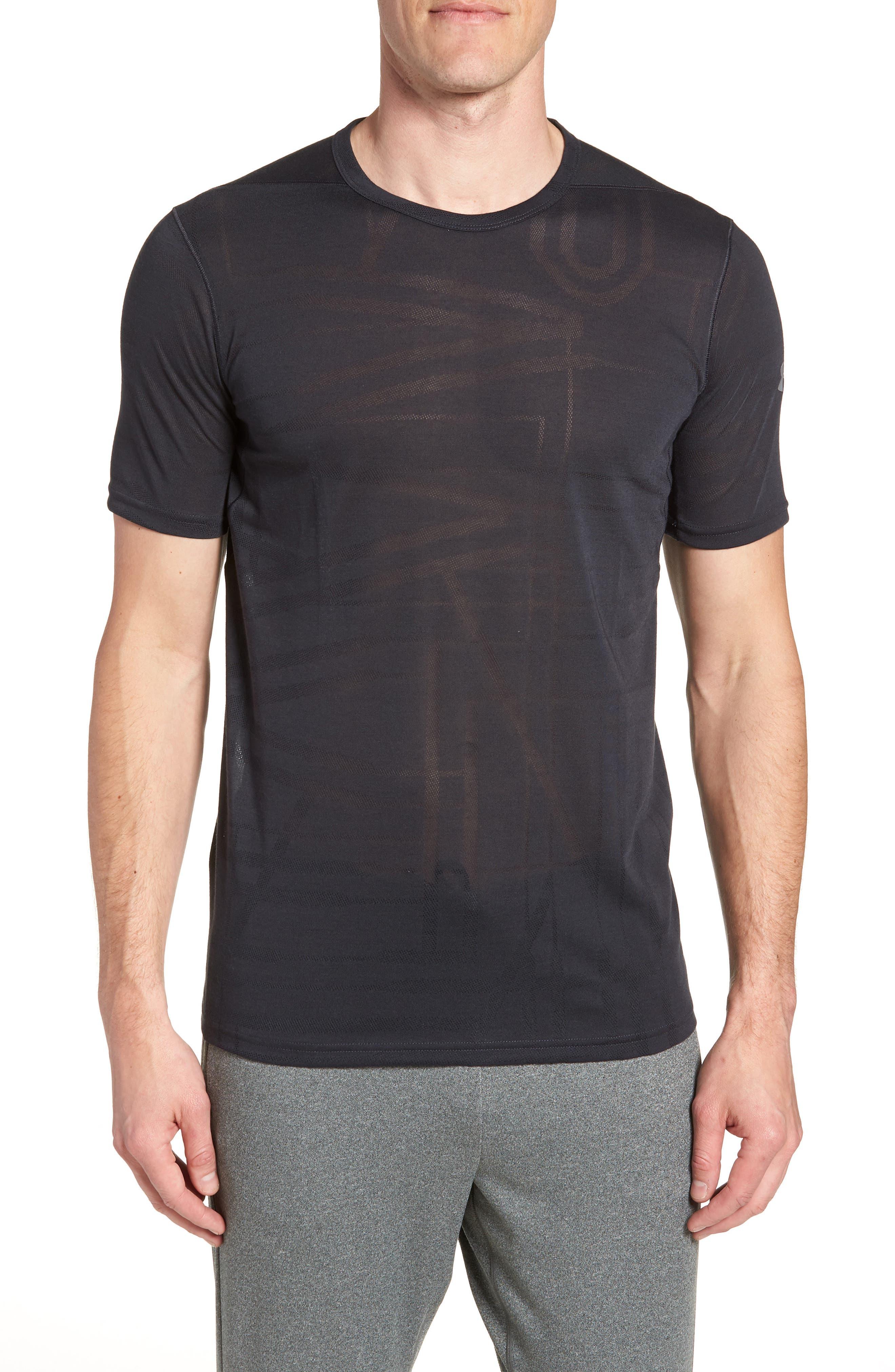 Threadborne Elite Crewneck T-Shirt,                             Main thumbnail 1, color,                             Black/ Graphite