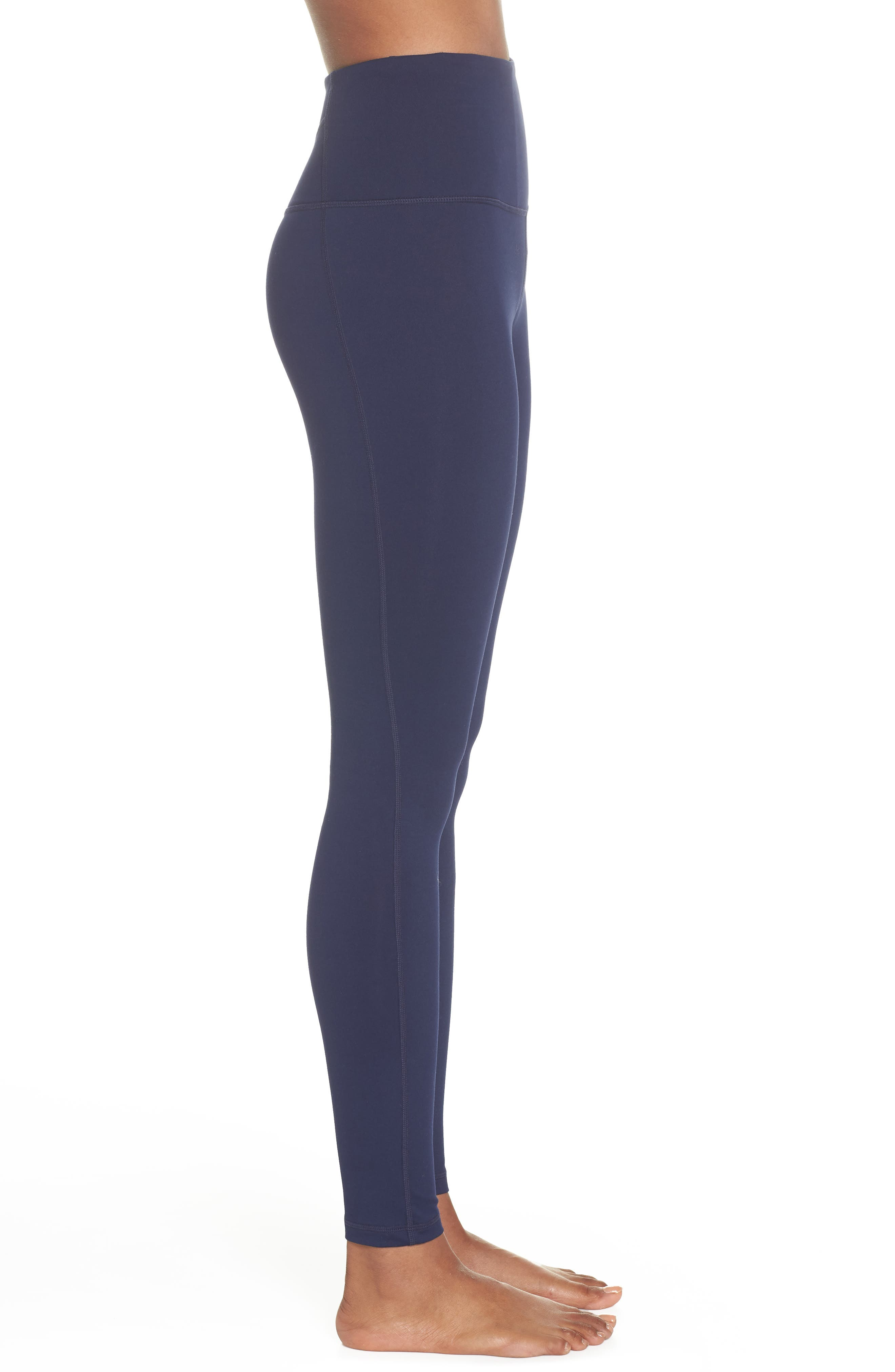 Live In High Waist Leggings,                             Alternate thumbnail 3, color,                             Navy Maritime