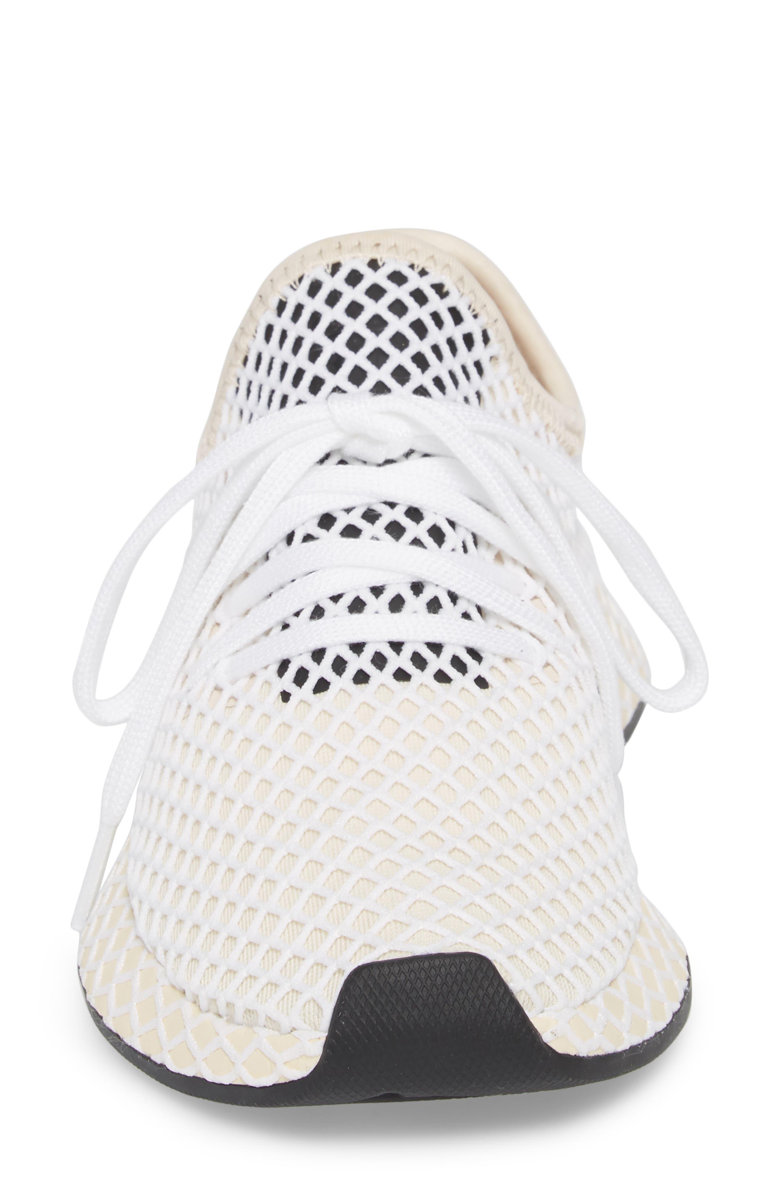 Deerupt Runner Sneaker,                             Alternate thumbnail 4, color,                             Linen/ Linen/ Ecru Tint