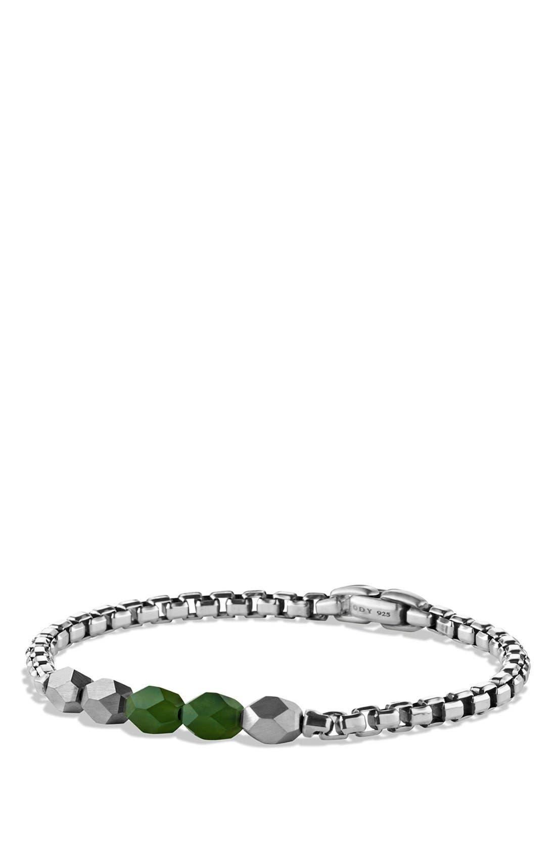 'Faceted' Metal Bracelet,                             Main thumbnail 1, color,                             Jade