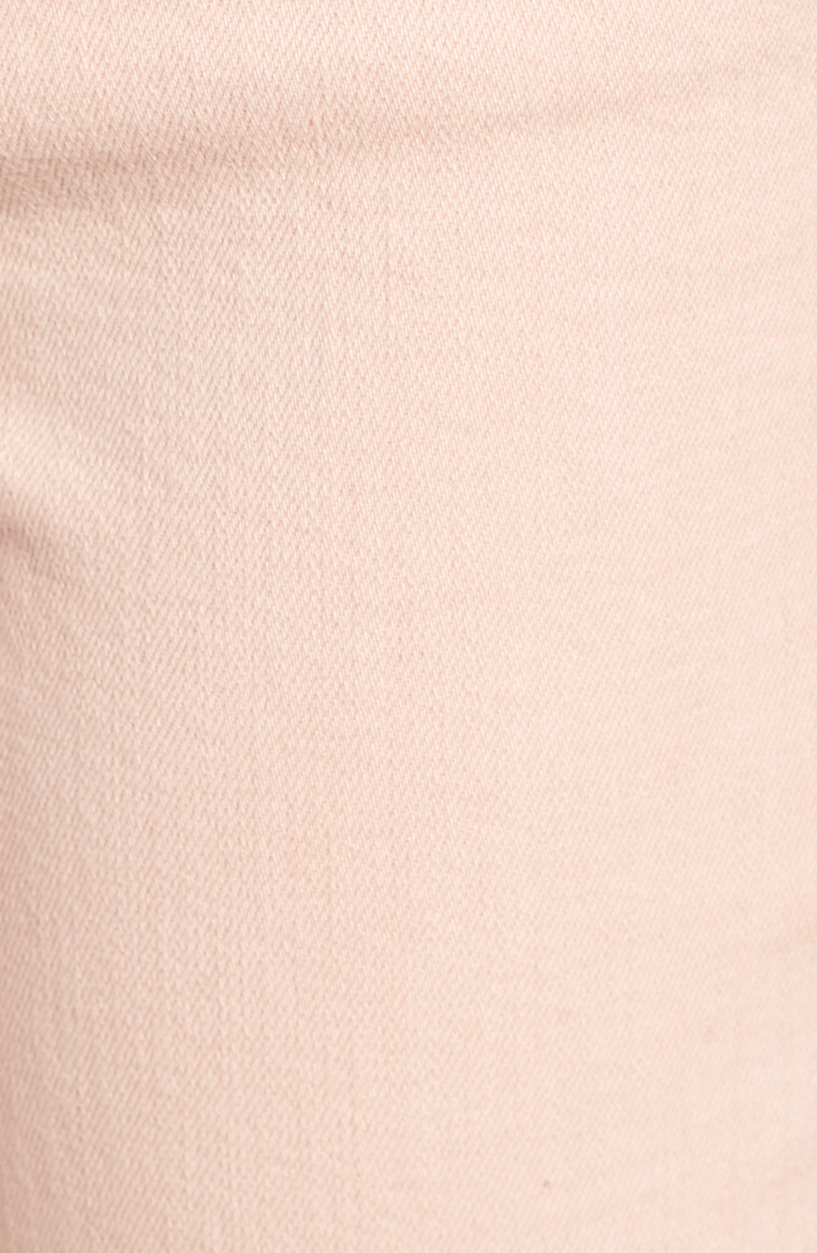 Valletta High Waist Crop Straight Leg Jeans,                             Alternate thumbnail 6, color,                             Punch Pink