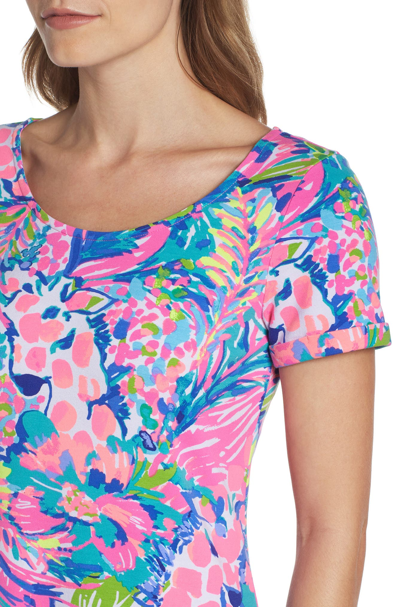 Tammy UPF 50+ Shift Dress,                             Alternate thumbnail 4, color,                             Multi Gumbo Limbo