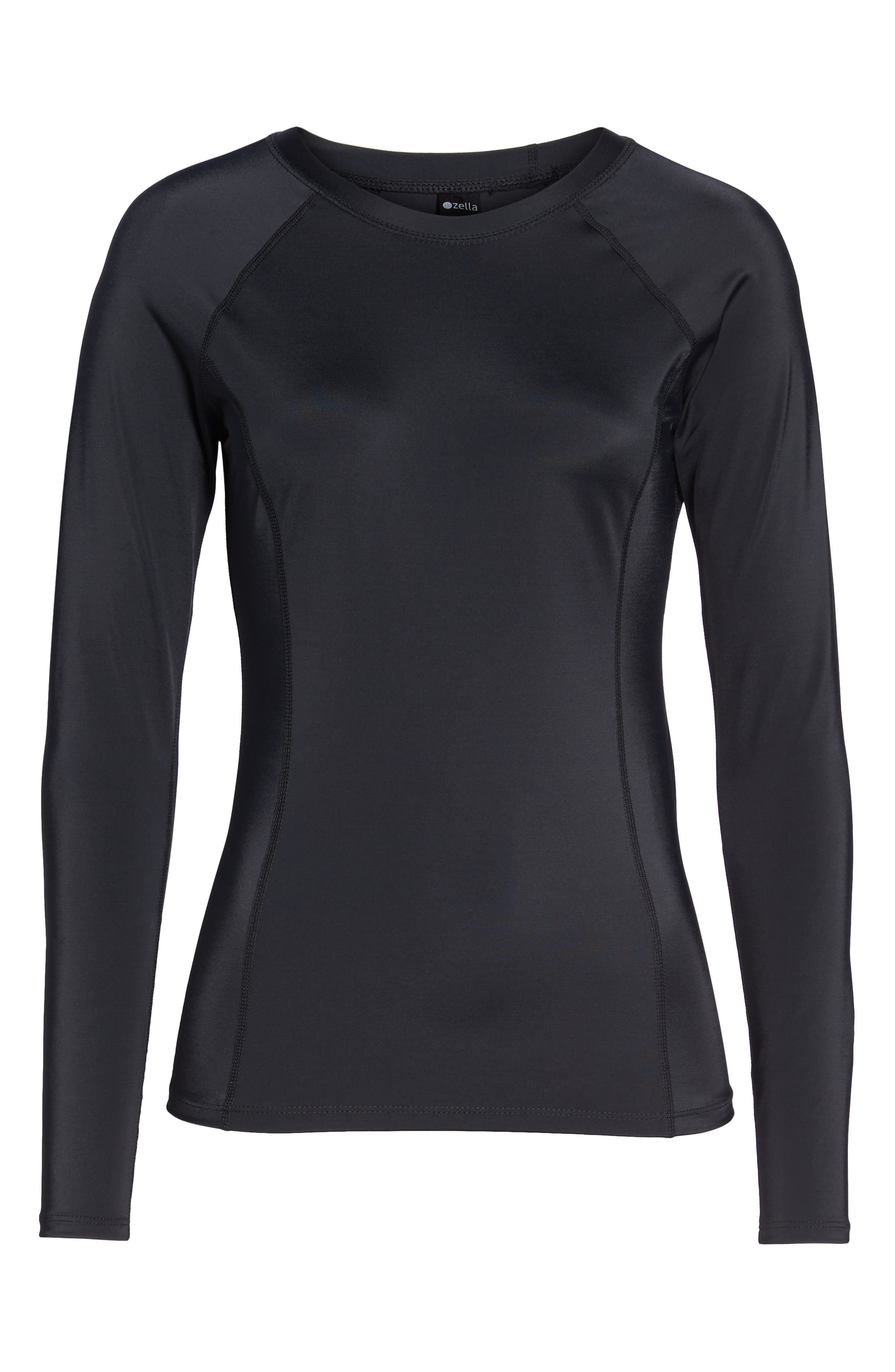 Rashguard,                             Alternate thumbnail 6, color,                             Black