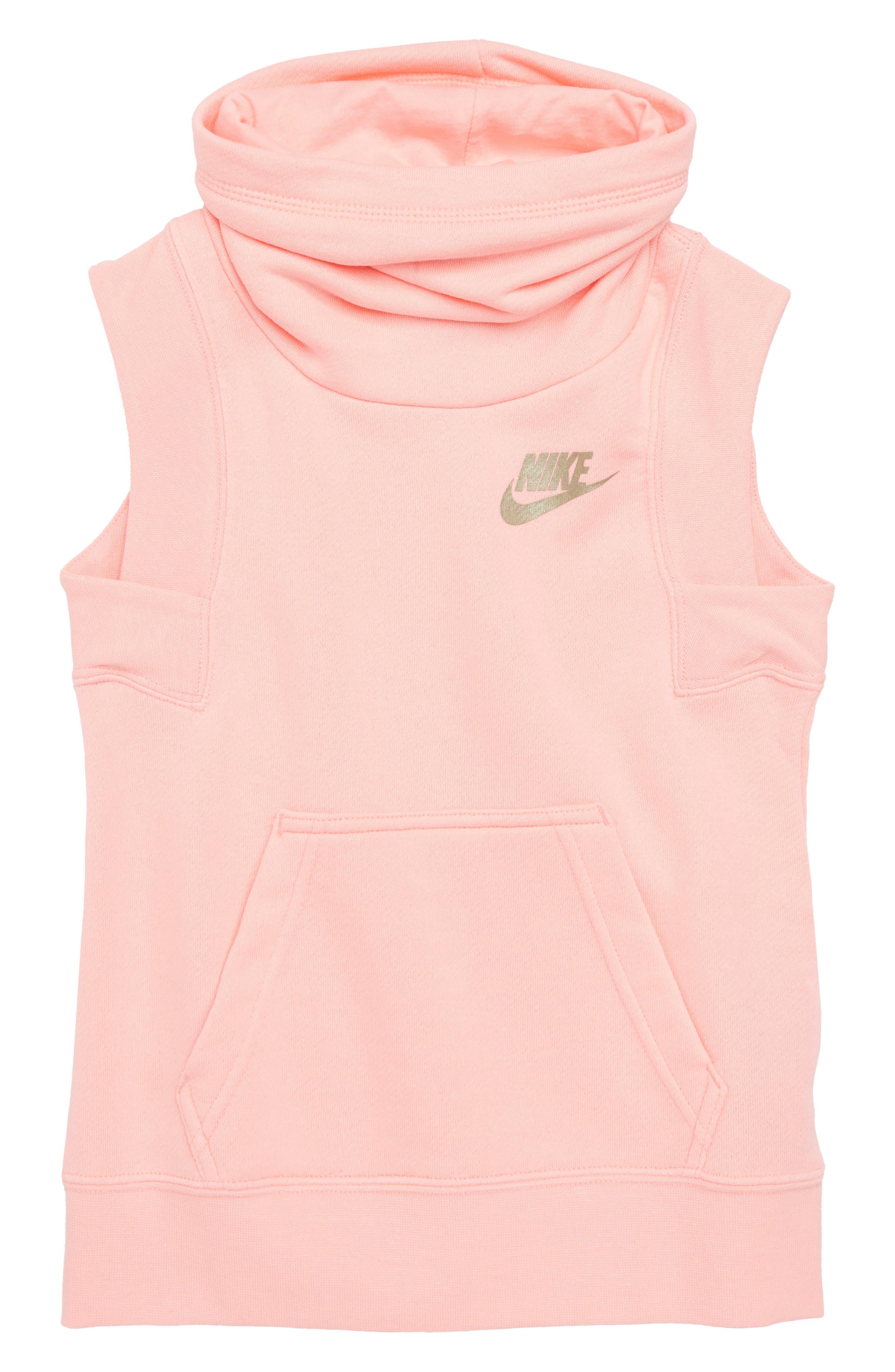 Nike Sleeveless Funnel Top (Big Girls)