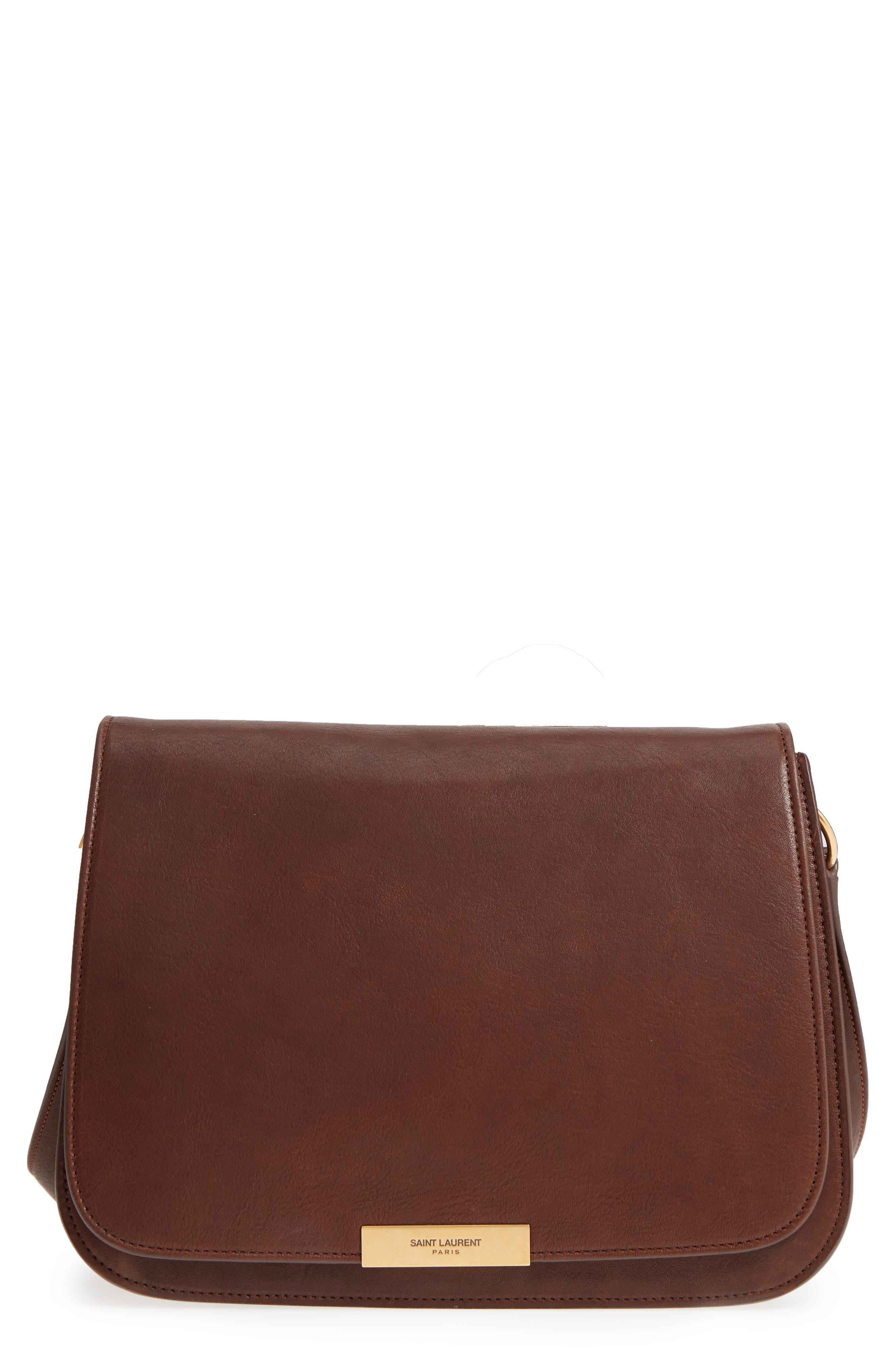 Saint Laurent Amalia Leather Flap Shoulder Bag