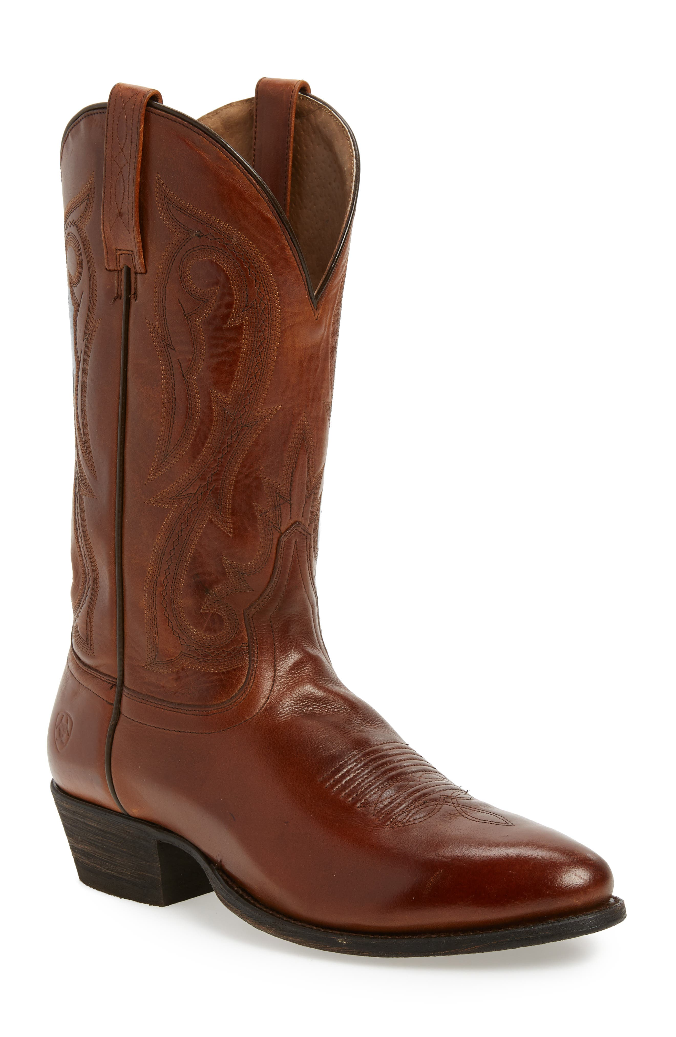 Circuit Tall Cowboy Boot,                             Main thumbnail 1, color,                             Spruced Cognac Leather