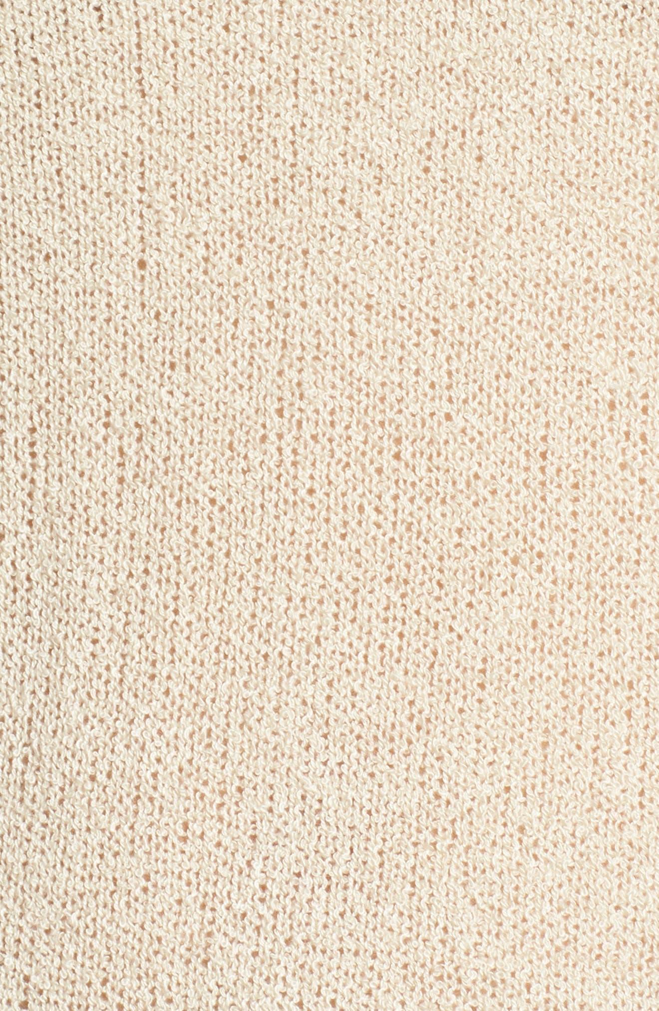 Exposed Seam Sweater,                             Alternate thumbnail 5, color,                             Beige Birch