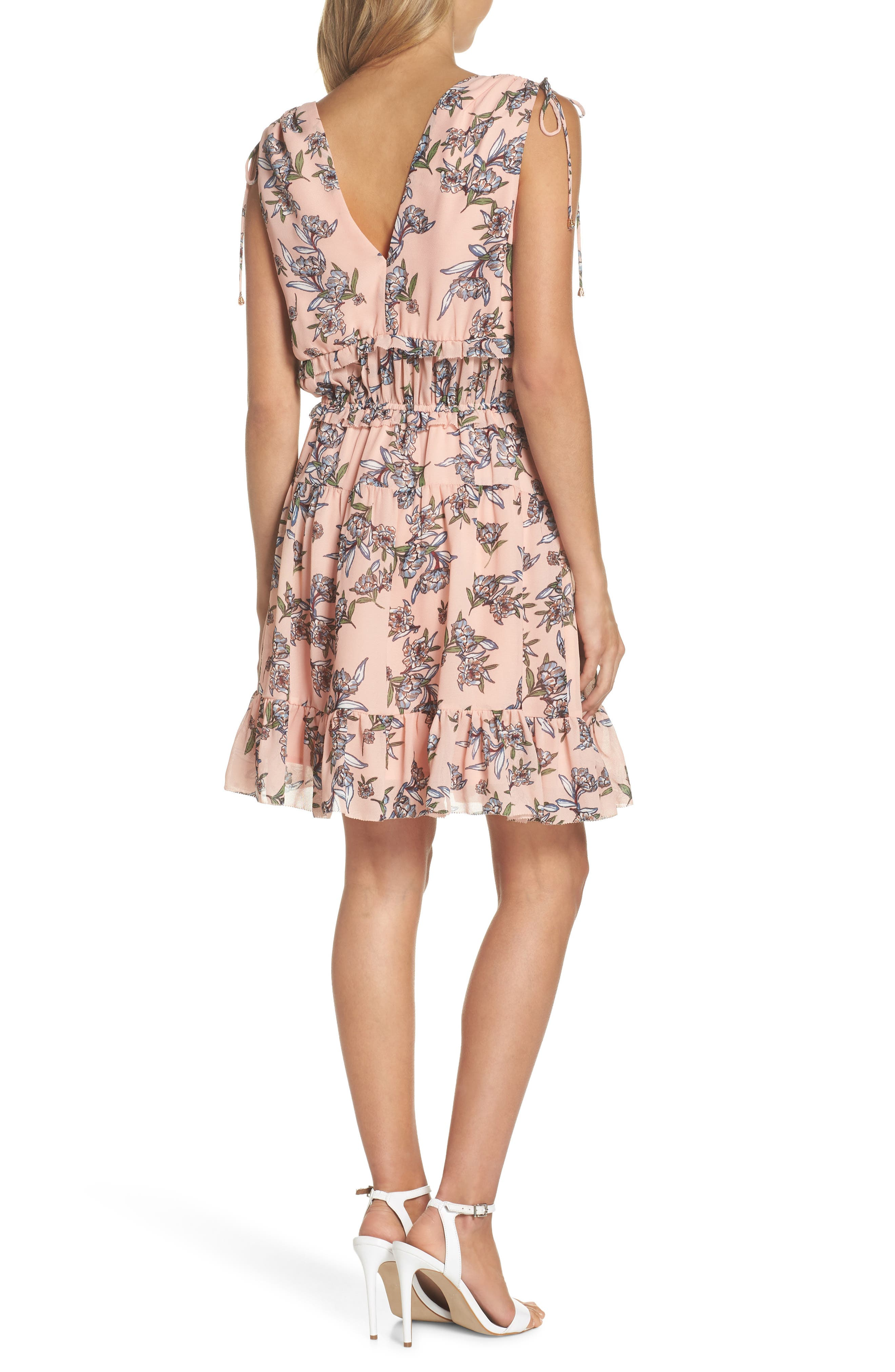 Jax Floral Dress,                             Alternate thumbnail 2, color,                             Blush