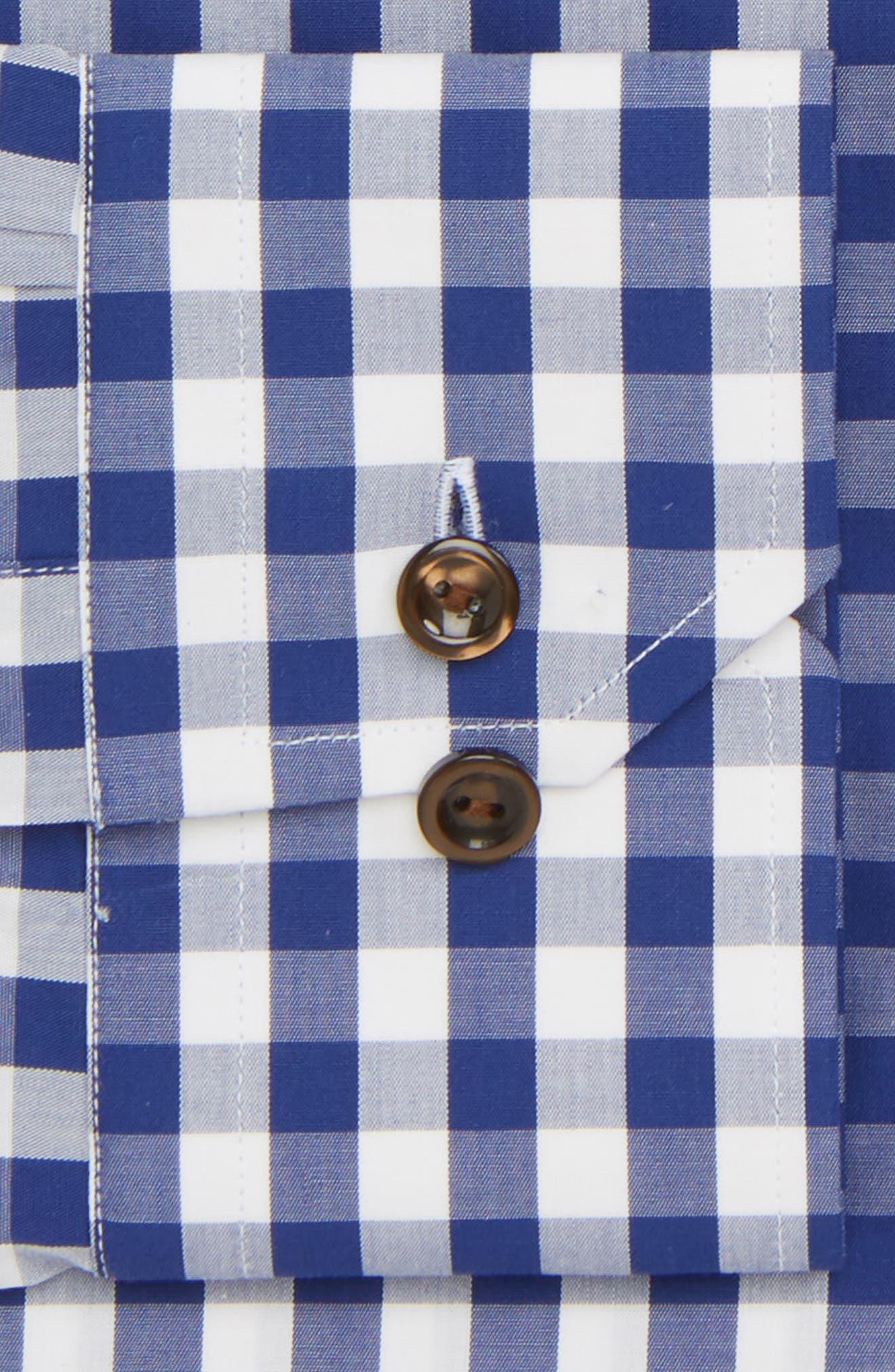 Contemporary Fit Check Dress Shirt,                             Alternate thumbnail 5, color,                             Navy