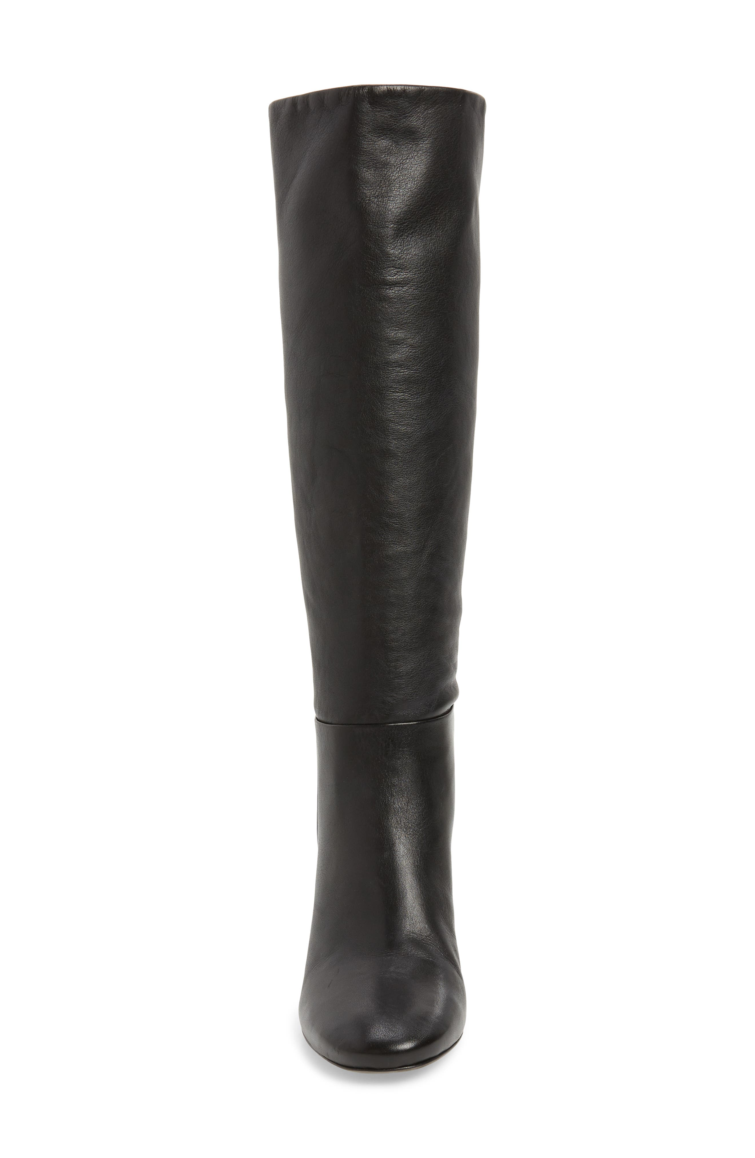 Brooke Slouchy Boot,                             Alternate thumbnail 4, color,                             Perfect Black