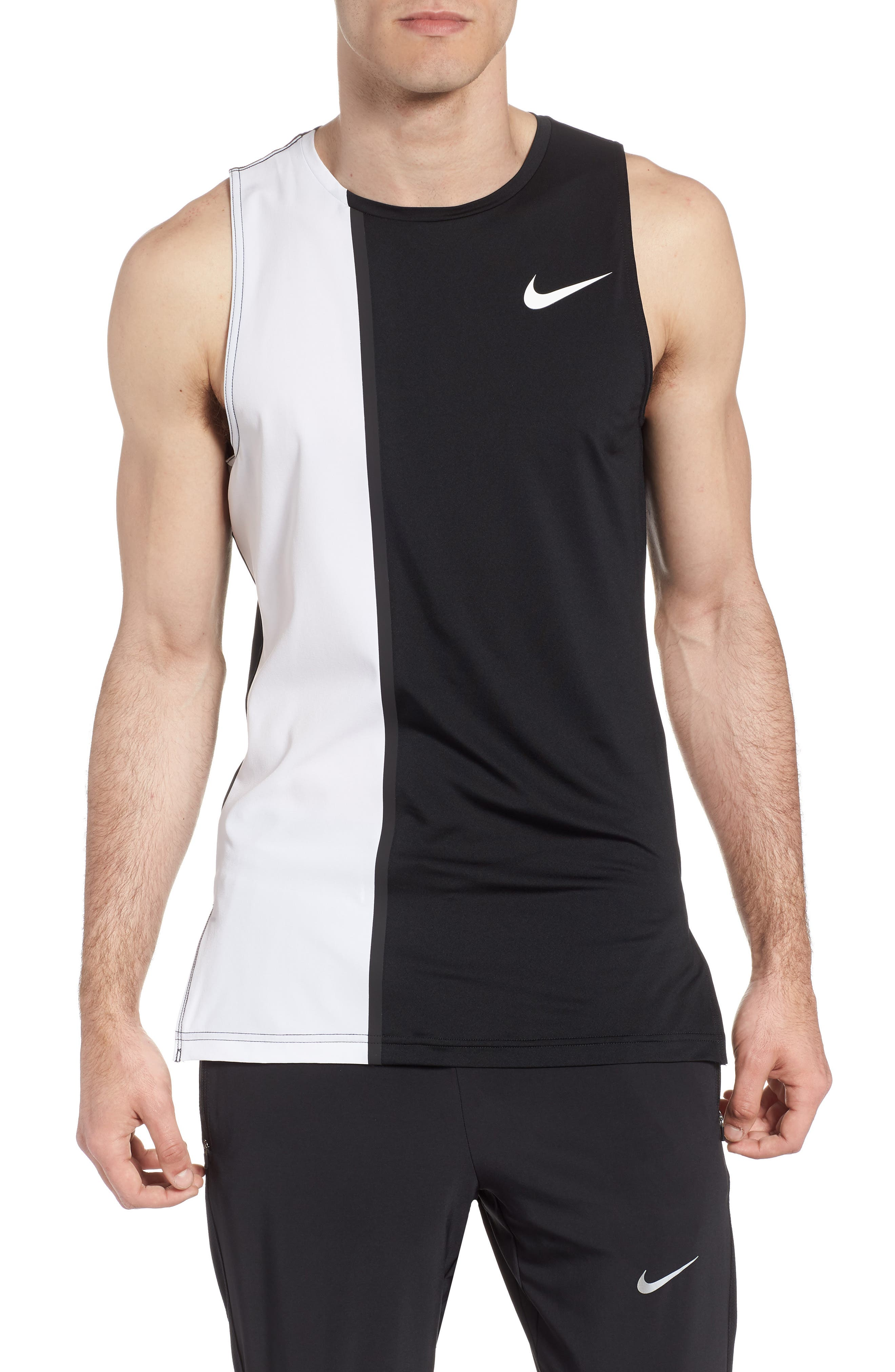 Fitted Tank,                         Main,                         color, White