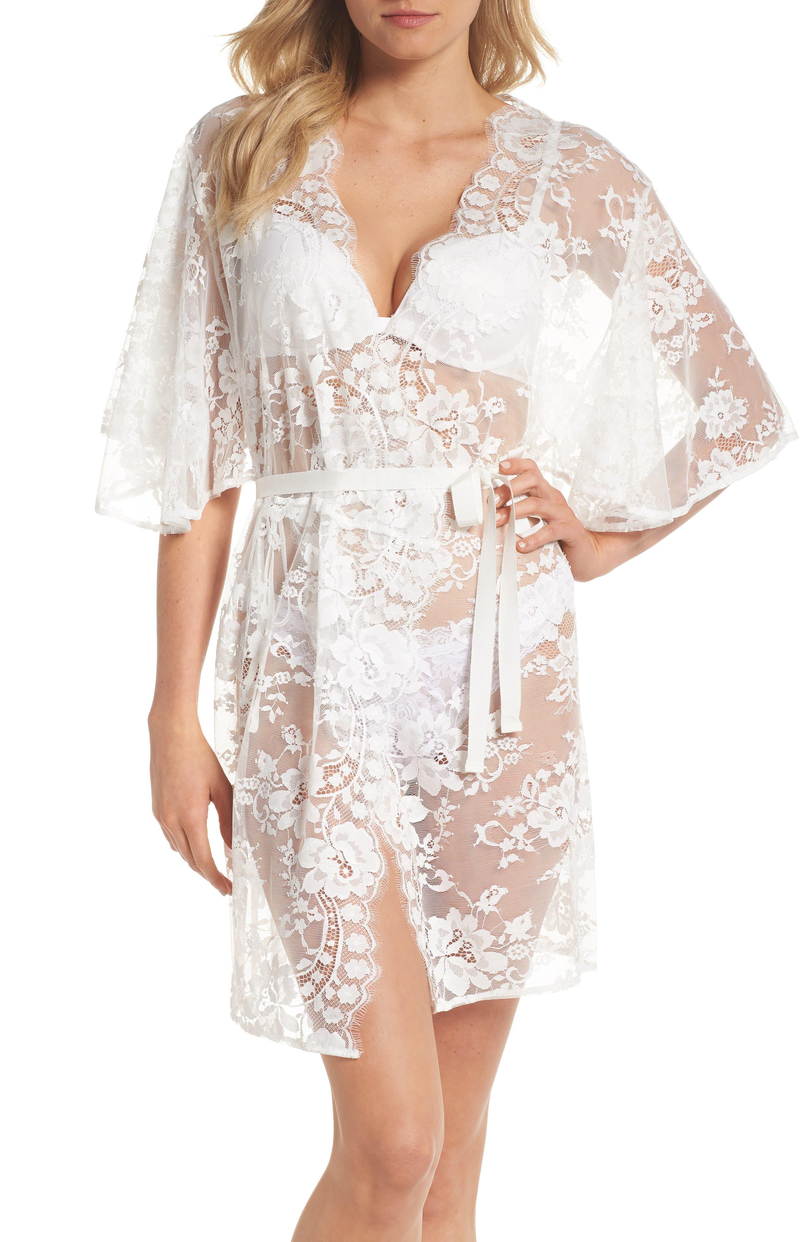 Kassiah Short Lace Wrap,                         Main,                         color, White