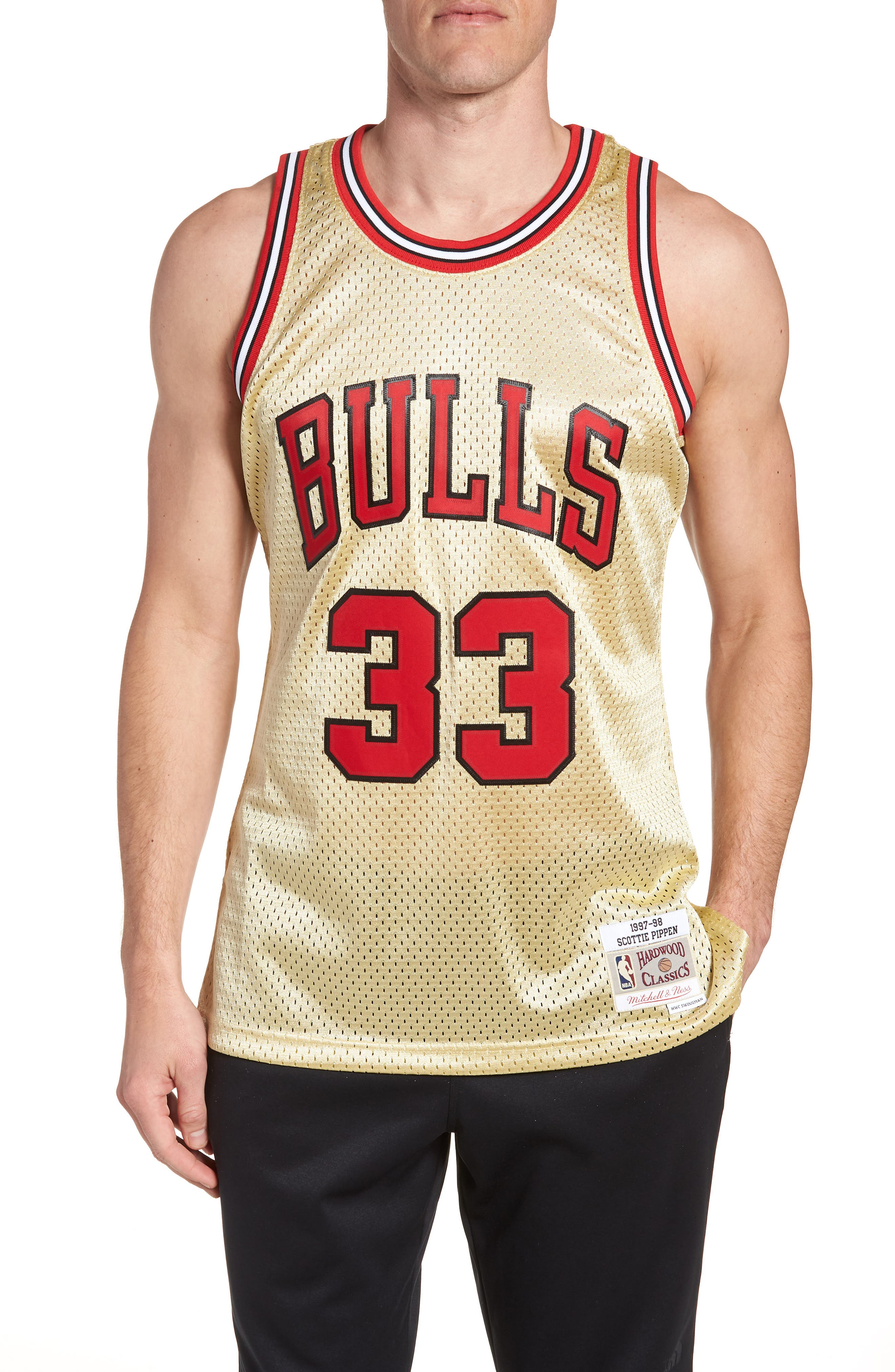NBA Gold Pippen Jersey,                             Main thumbnail 1, color,                             Gold