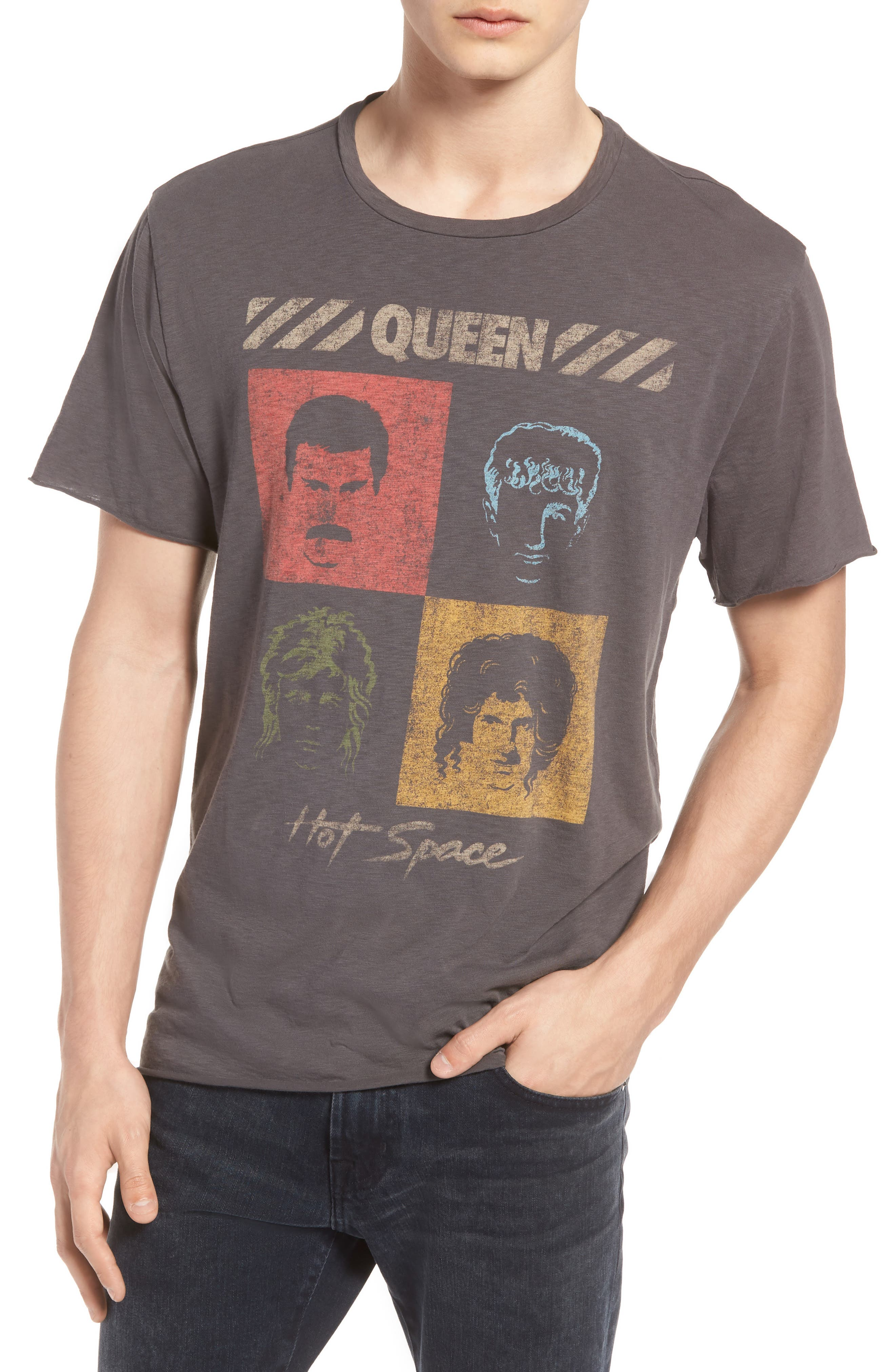 Queen Trim Fit T-Shirt,                         Main,                         color, Grey Queen