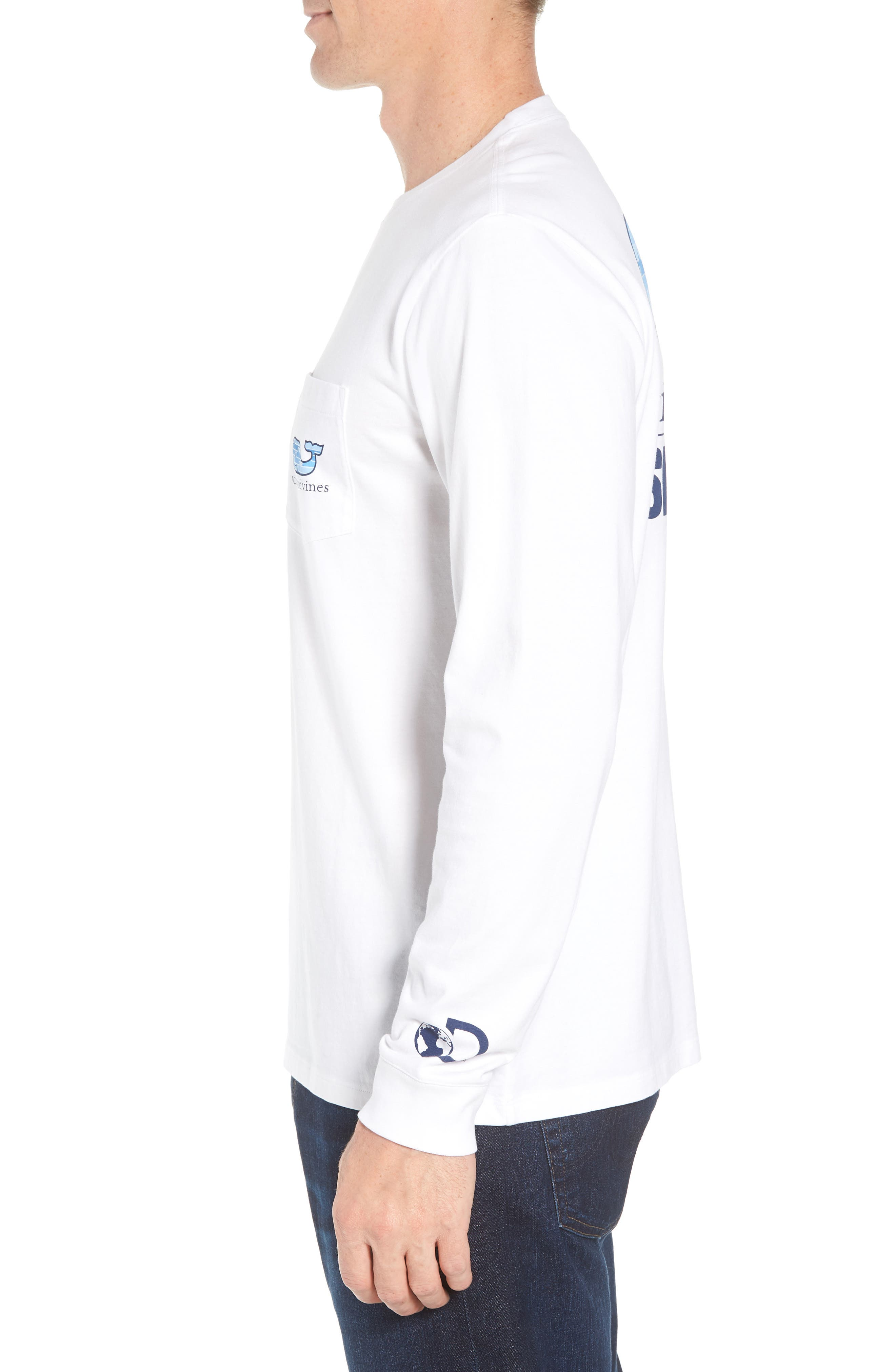 x Shark Week<sup>™</sup> Whaleline Long Sleeve Pocket T-Shirt,                             Alternate thumbnail 3, color,                             White Cap