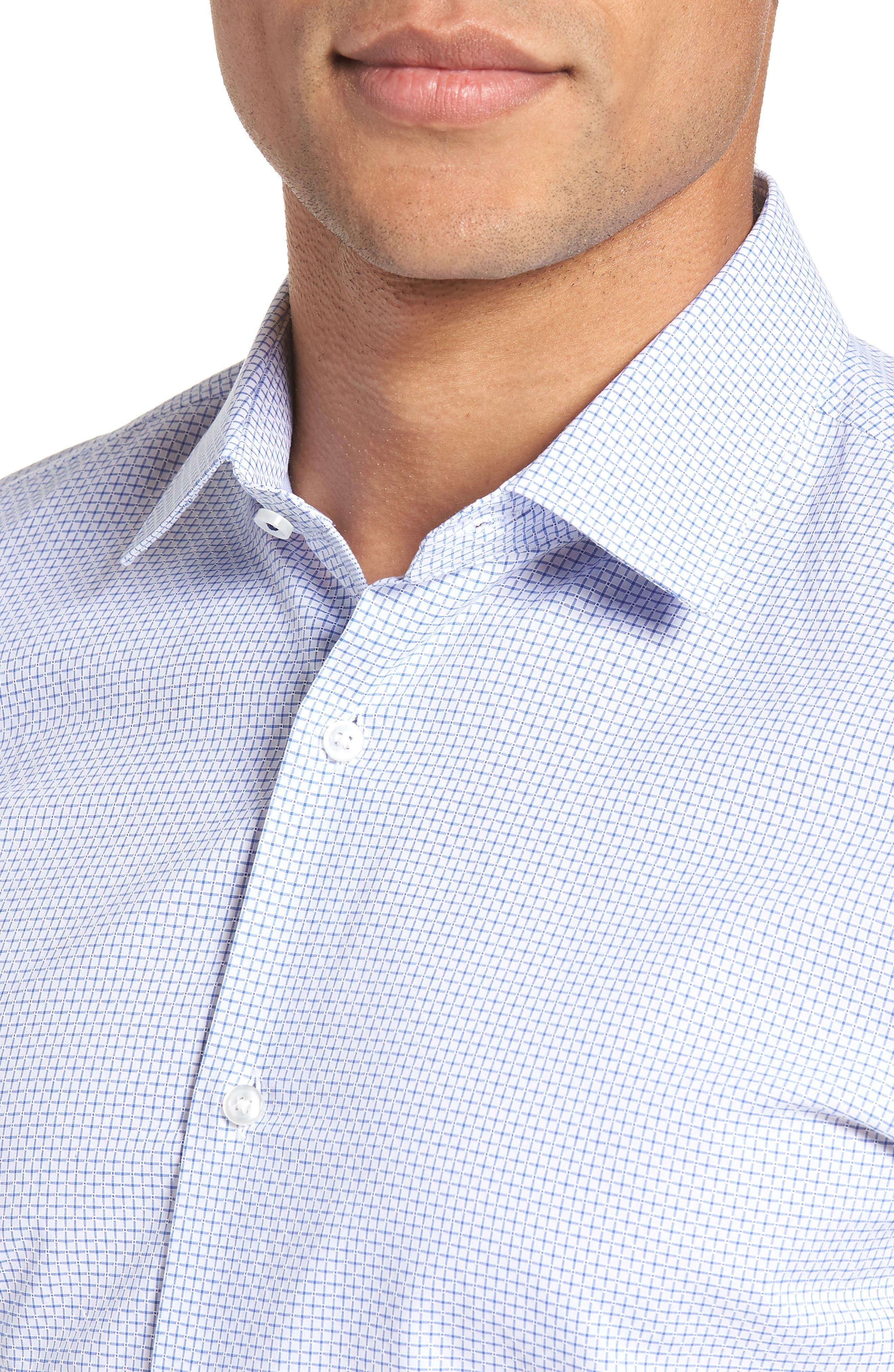 Jesse Slim Fit Check Dress Shirt,                             Alternate thumbnail 2, color,                             Blue