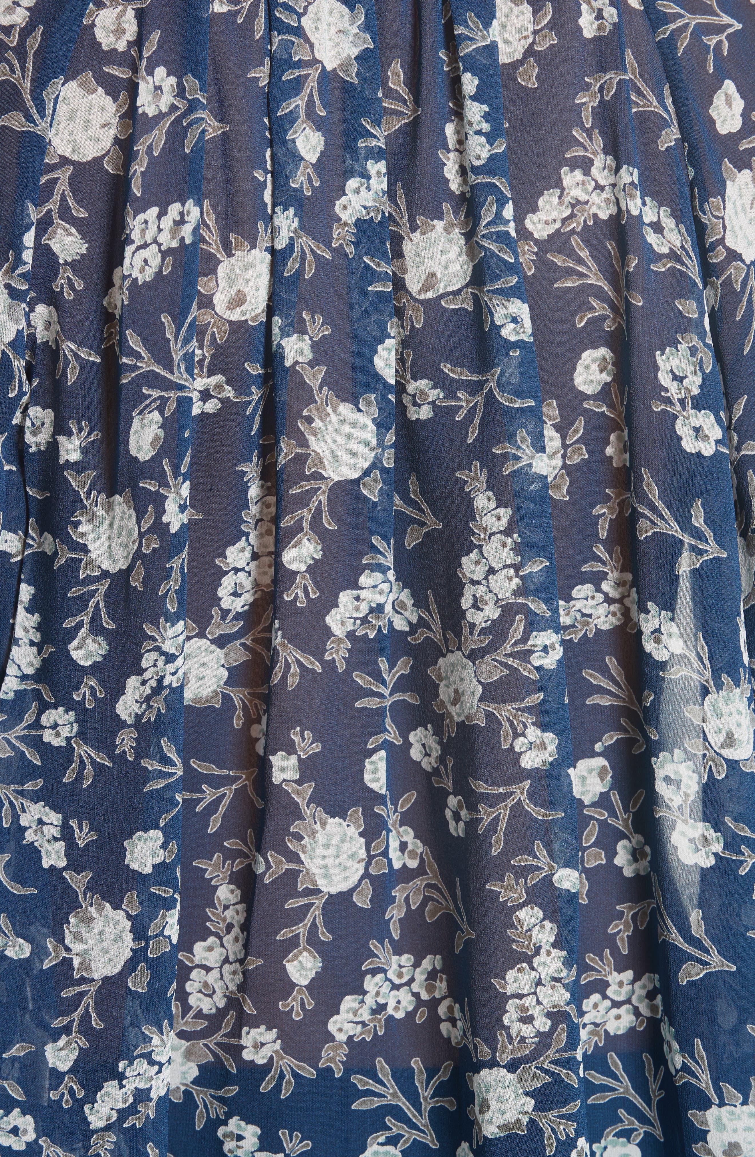 Rosine Silk Blouse,                             Alternate thumbnail 5, color,                             Azure