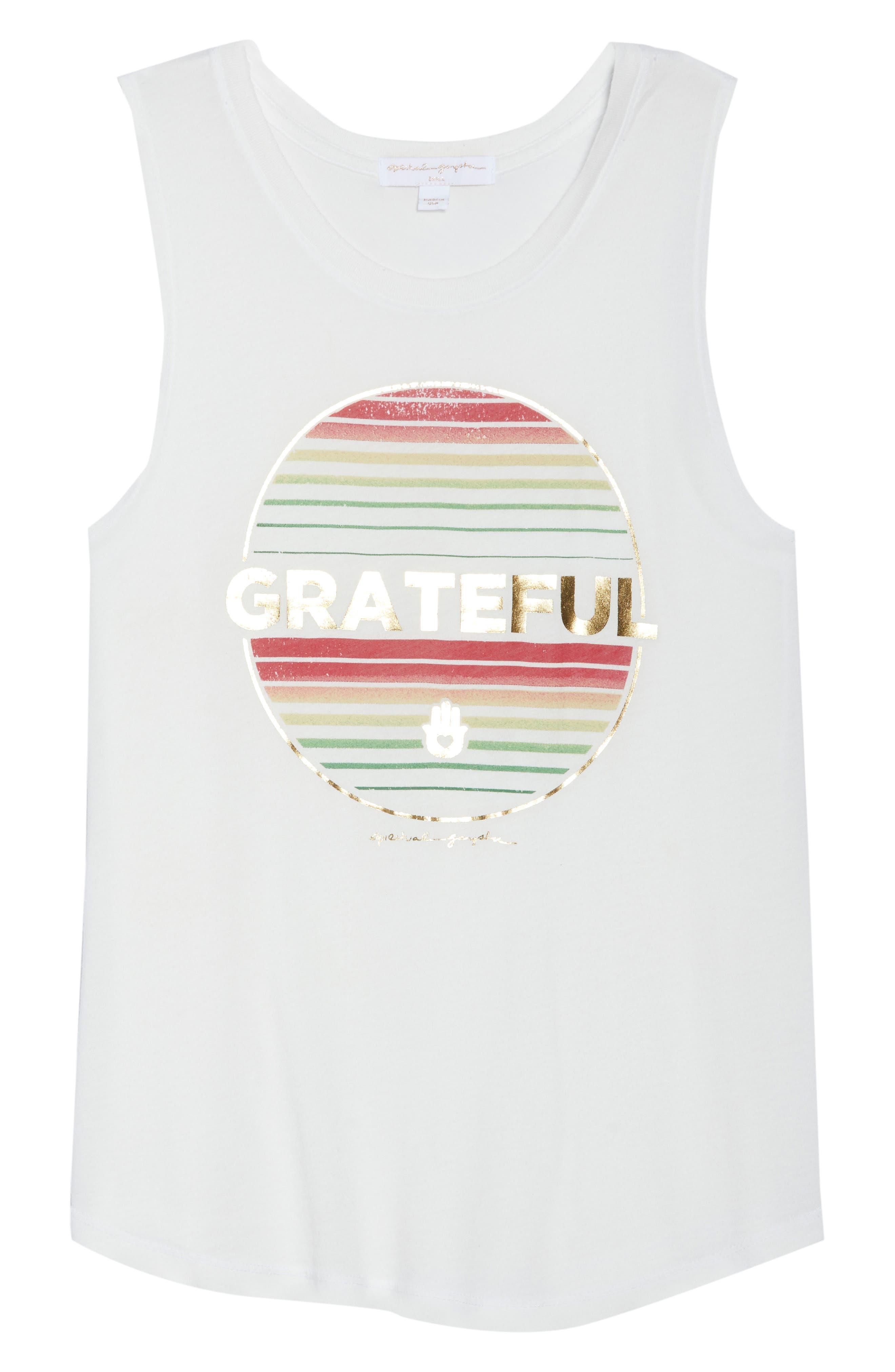 Grateful Muscle Tee,                             Alternate thumbnail 7, color,                             Stardust