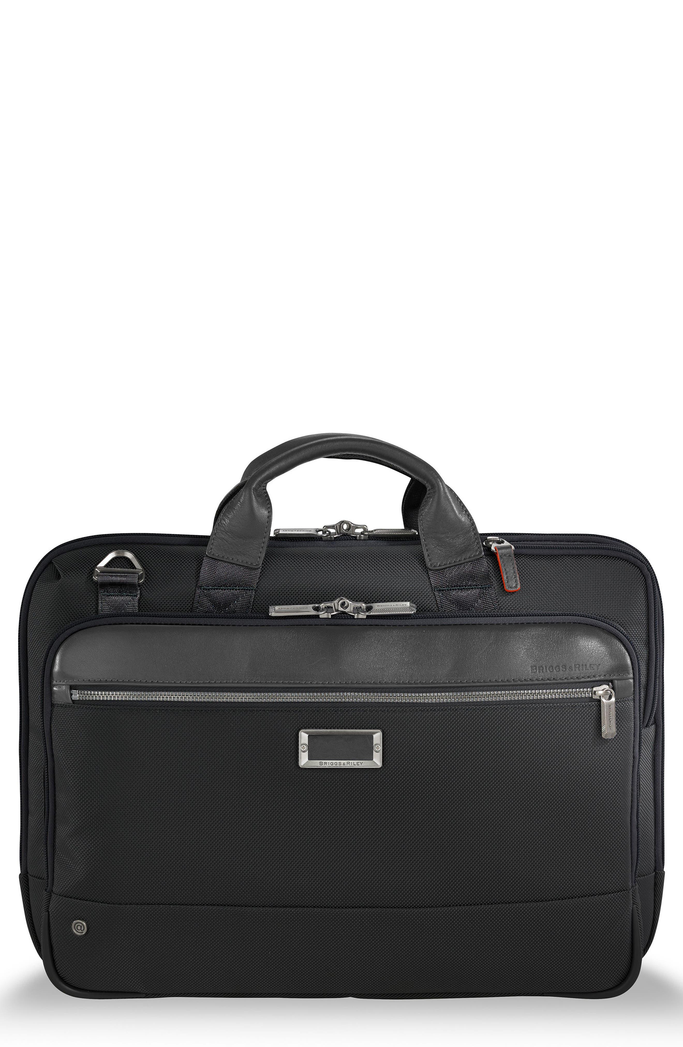 @work Slim Briefcase,                             Main thumbnail 1, color,                             Black