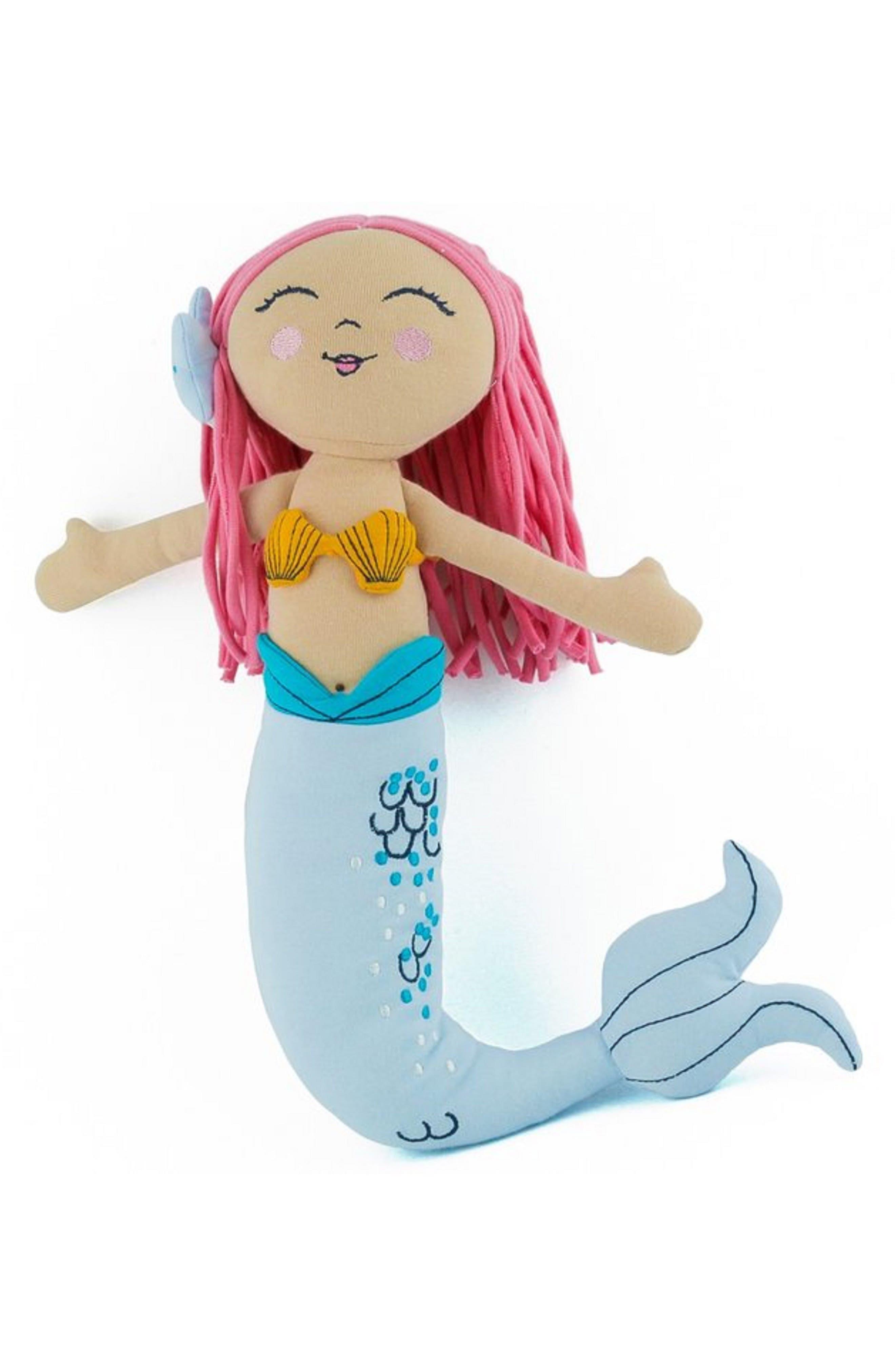 Ella Mermaid Stuffed Doll,                         Main,                         color, Blue