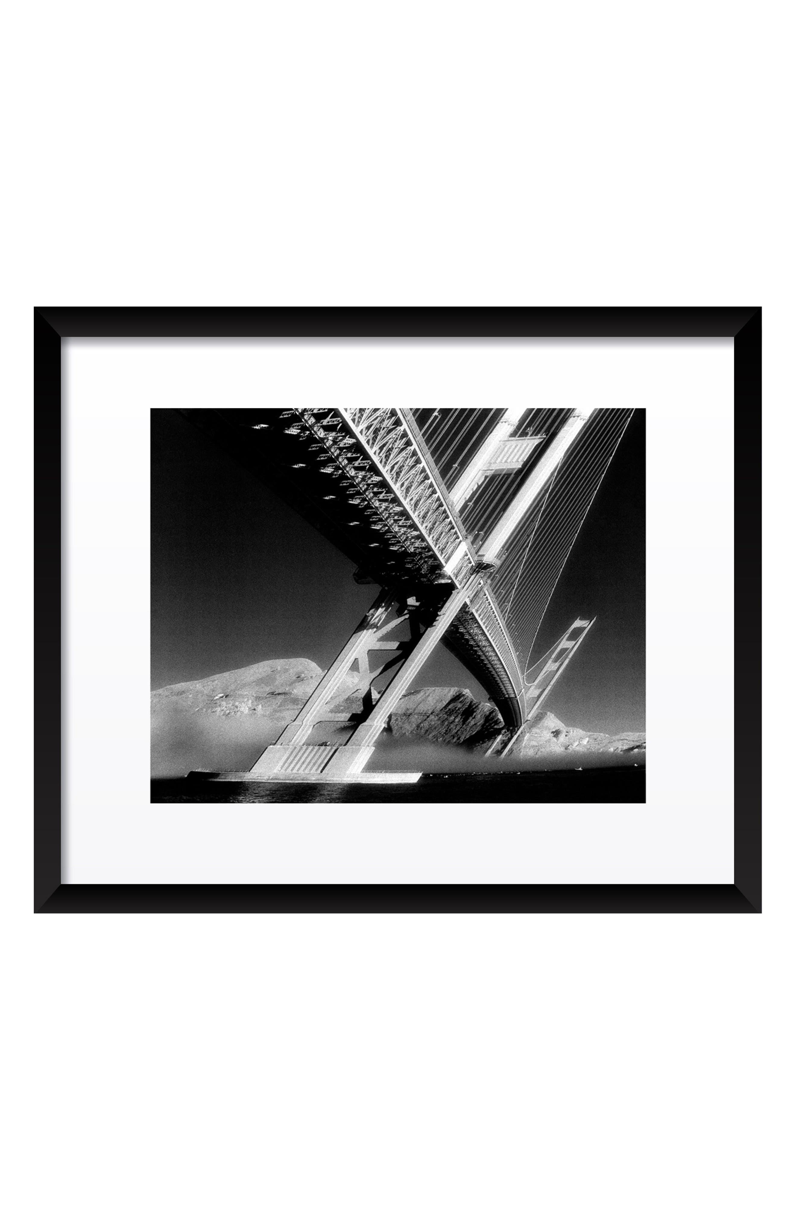 Grey Golden Gate Bridge Fine Art Print,                         Main,                         color, Black