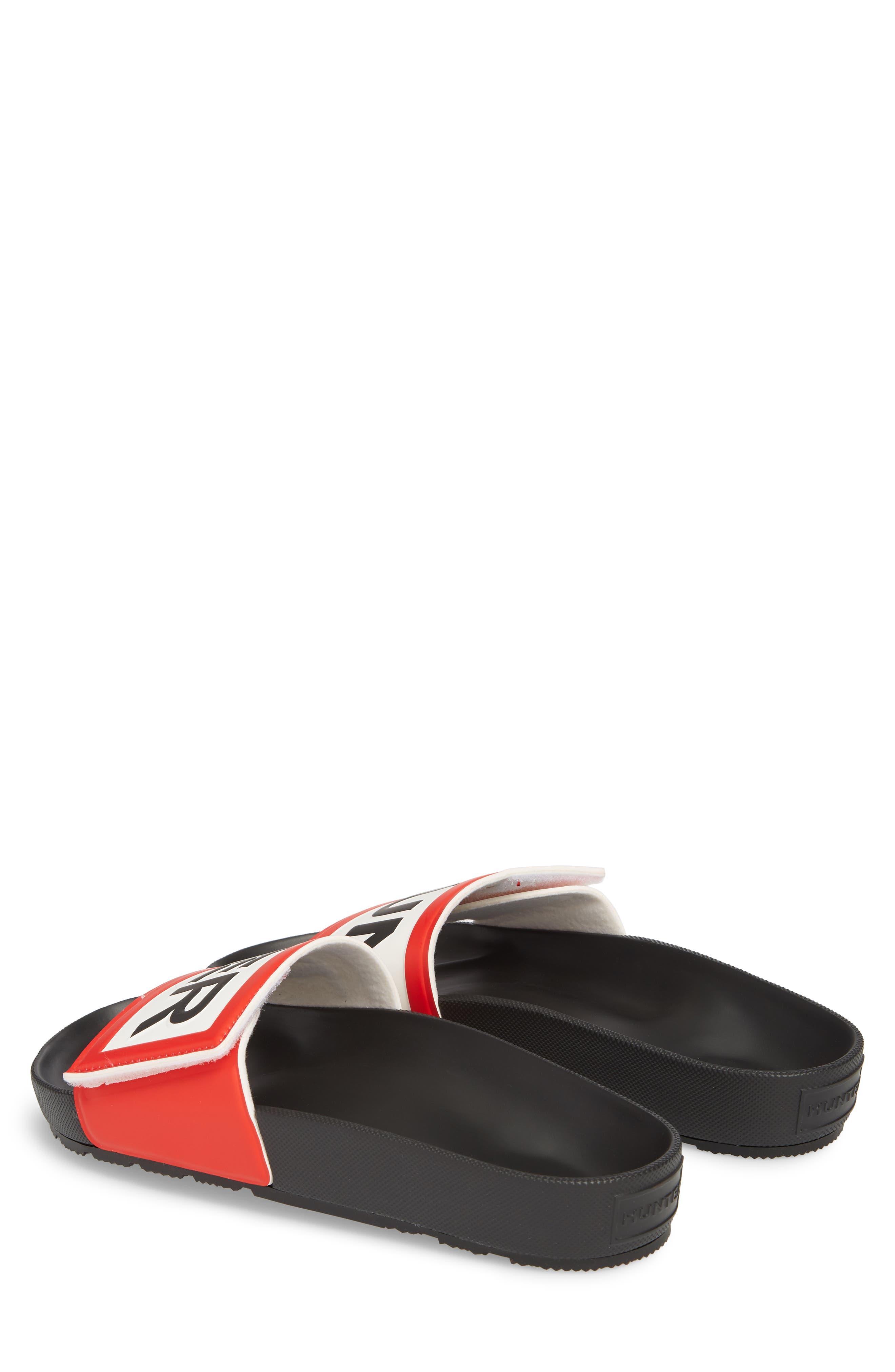 Original Adjustable Logo Slide Sandal,                             Alternate thumbnail 3, color,                             Black