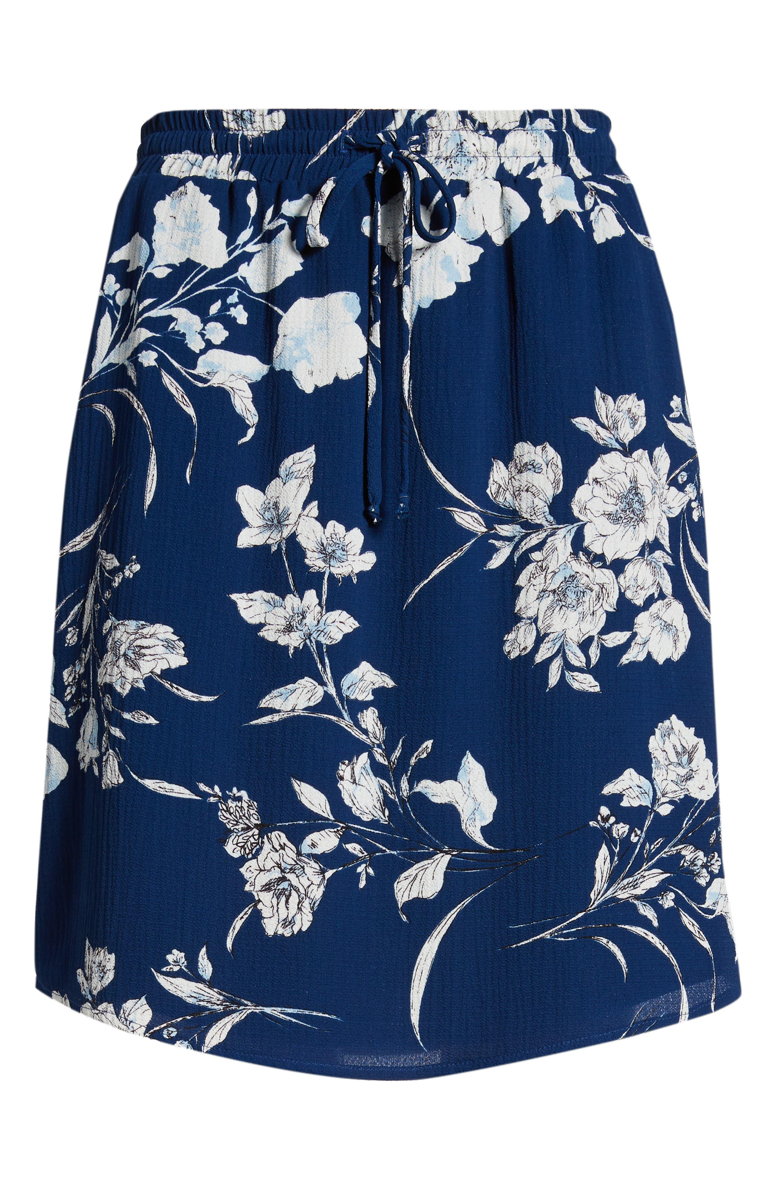 x Hi Sugarplum! Monterey Easy Skirt,                             Alternate thumbnail 7, color,                             Cool Breeze Floral