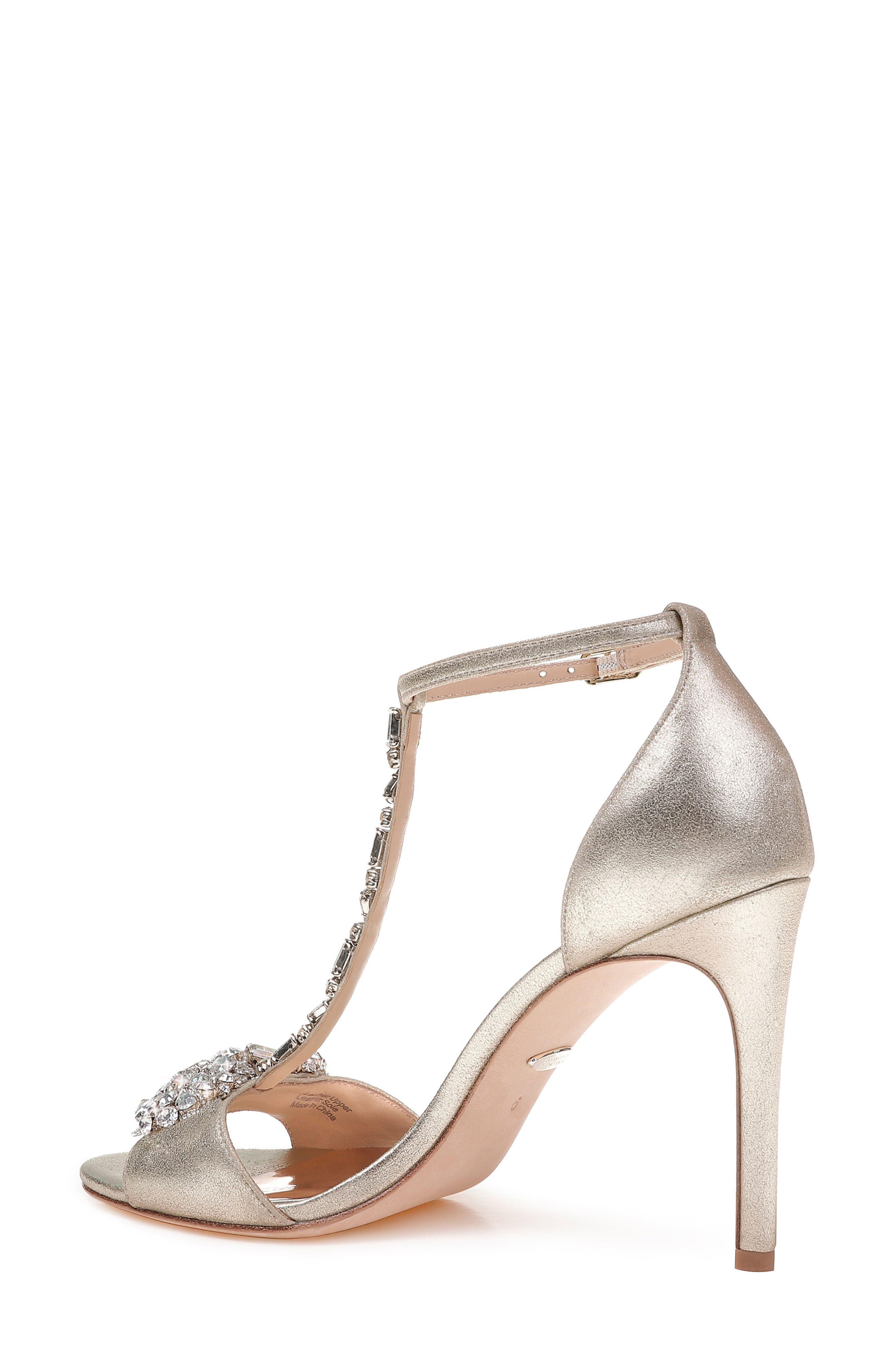 Pascale T-Strap Sandal,                             Alternate thumbnail 2, color,                             Platinum Metallic Suede