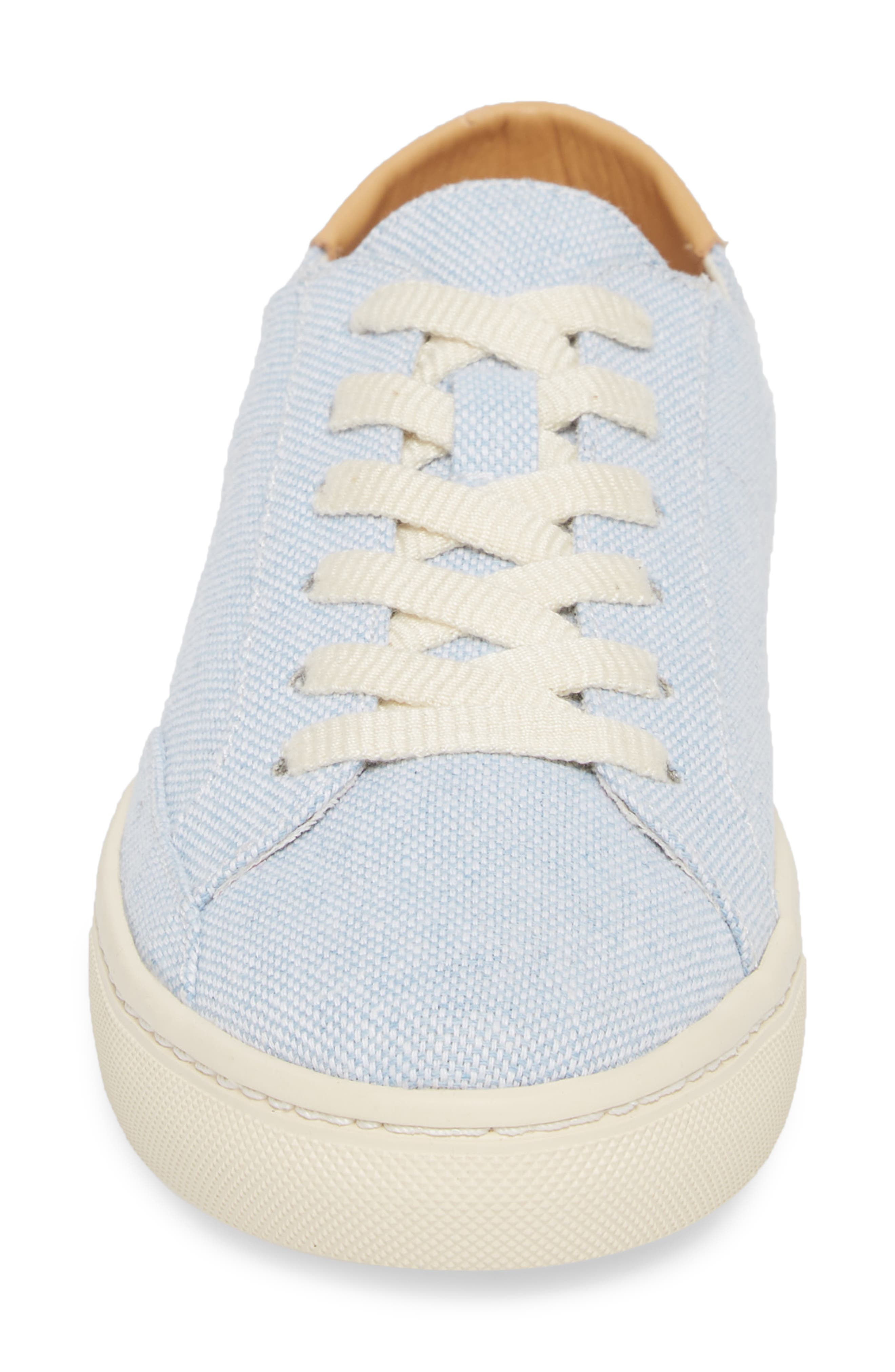 Ibiza Canvas Lace-Up Sneaker,                             Alternate thumbnail 4, color,                             Sky Blue