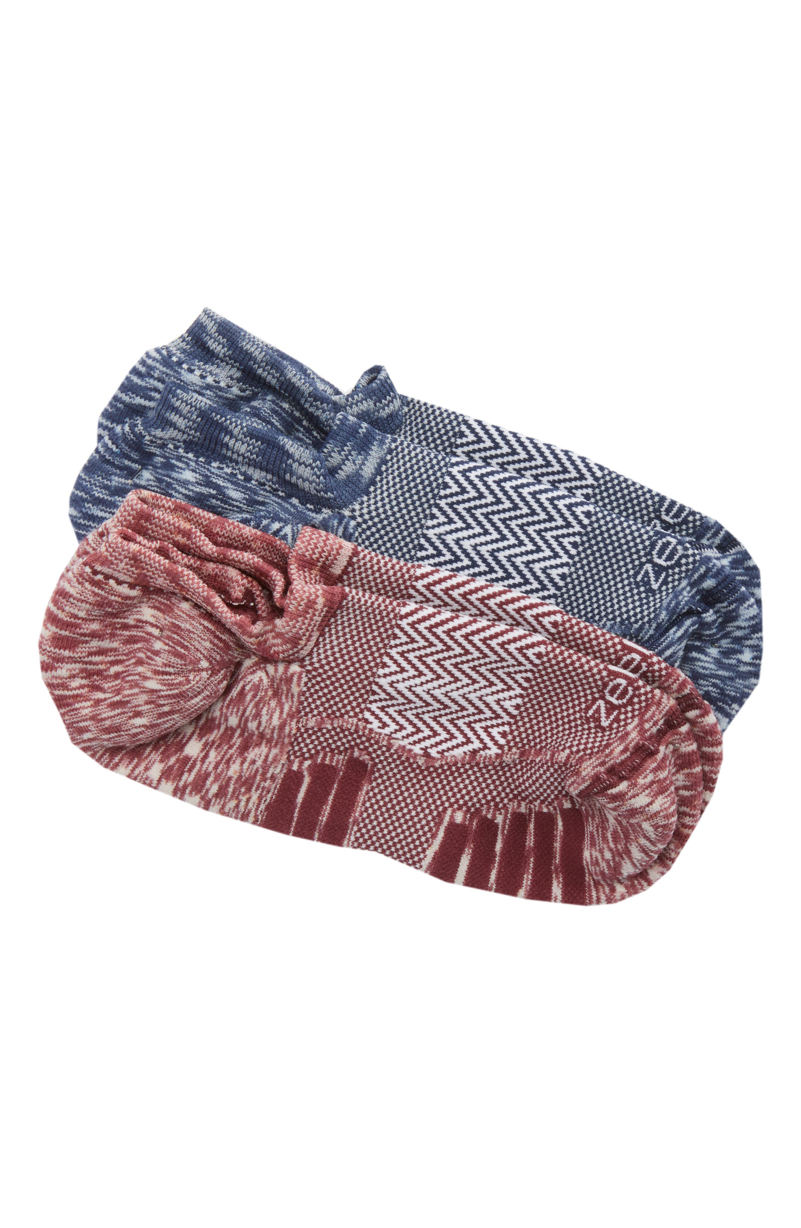 Ultra Light Run 2-Pack Socks,                             Main thumbnail 1, color,                             Red Tannin