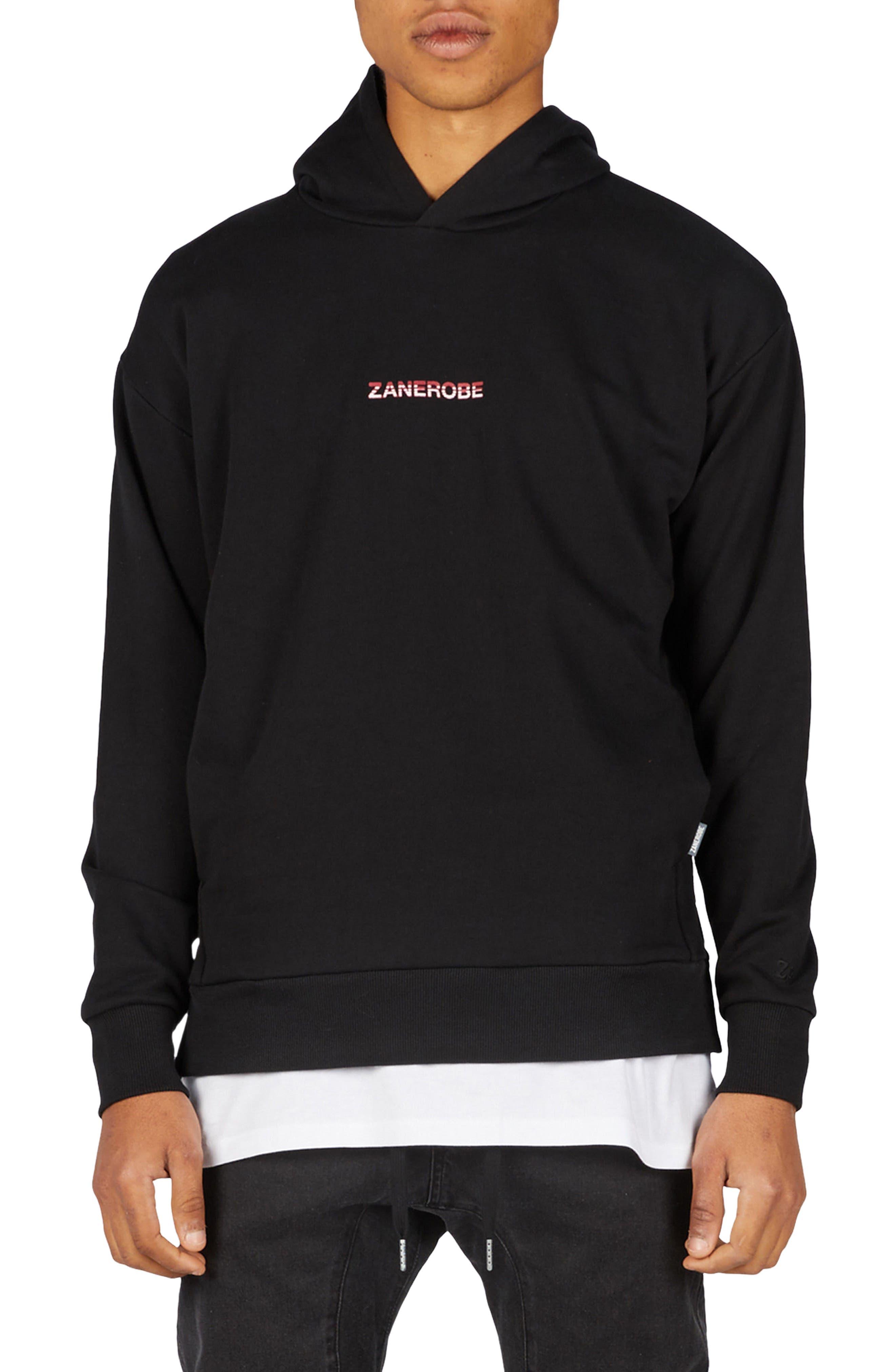 Season Rugger Hooded Sweatshirt,                         Main,                         color, Black