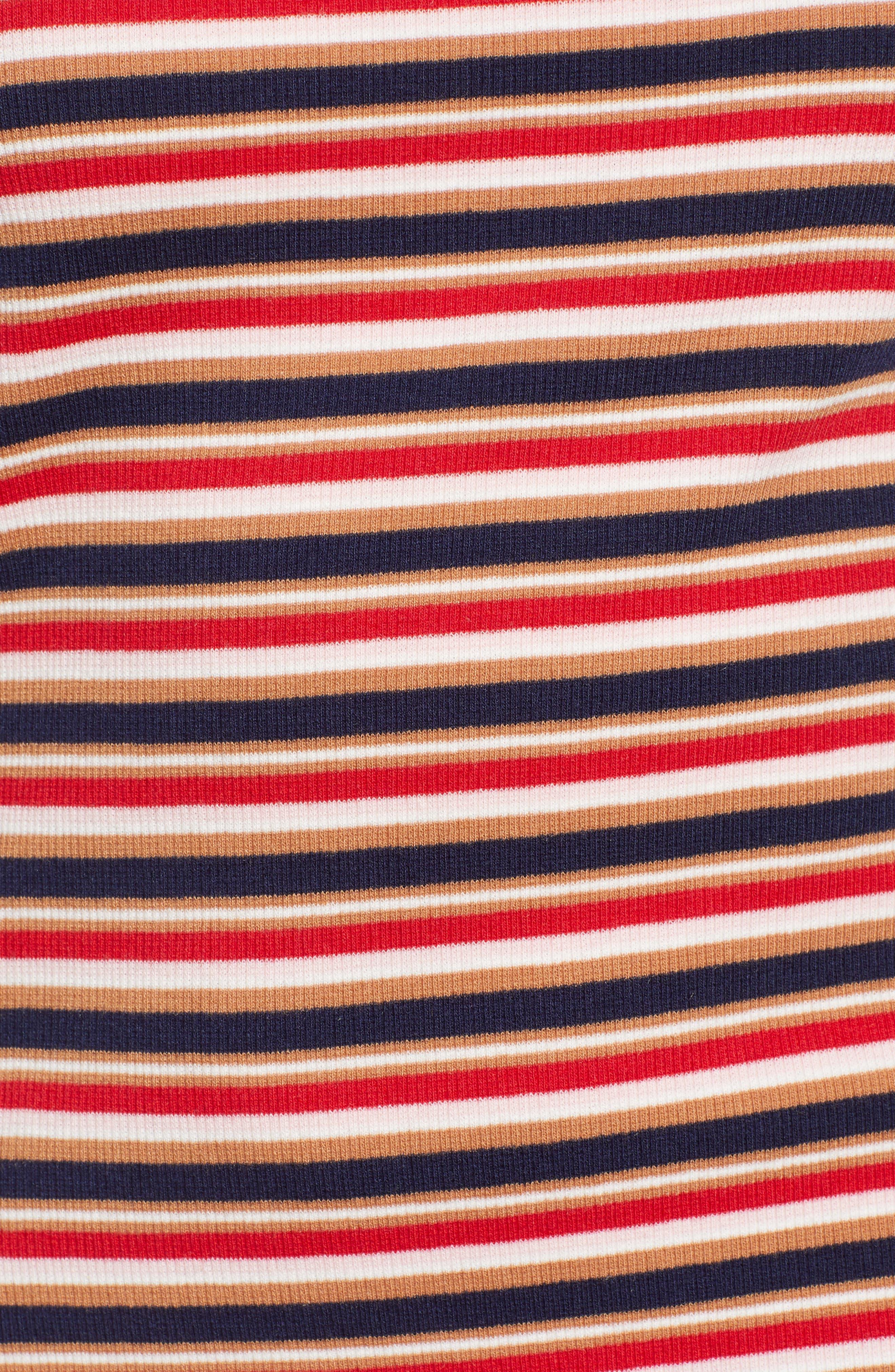 Parad Stripe Rib Knit Dress,                             Alternate thumbnail 4, color,                             Multi
