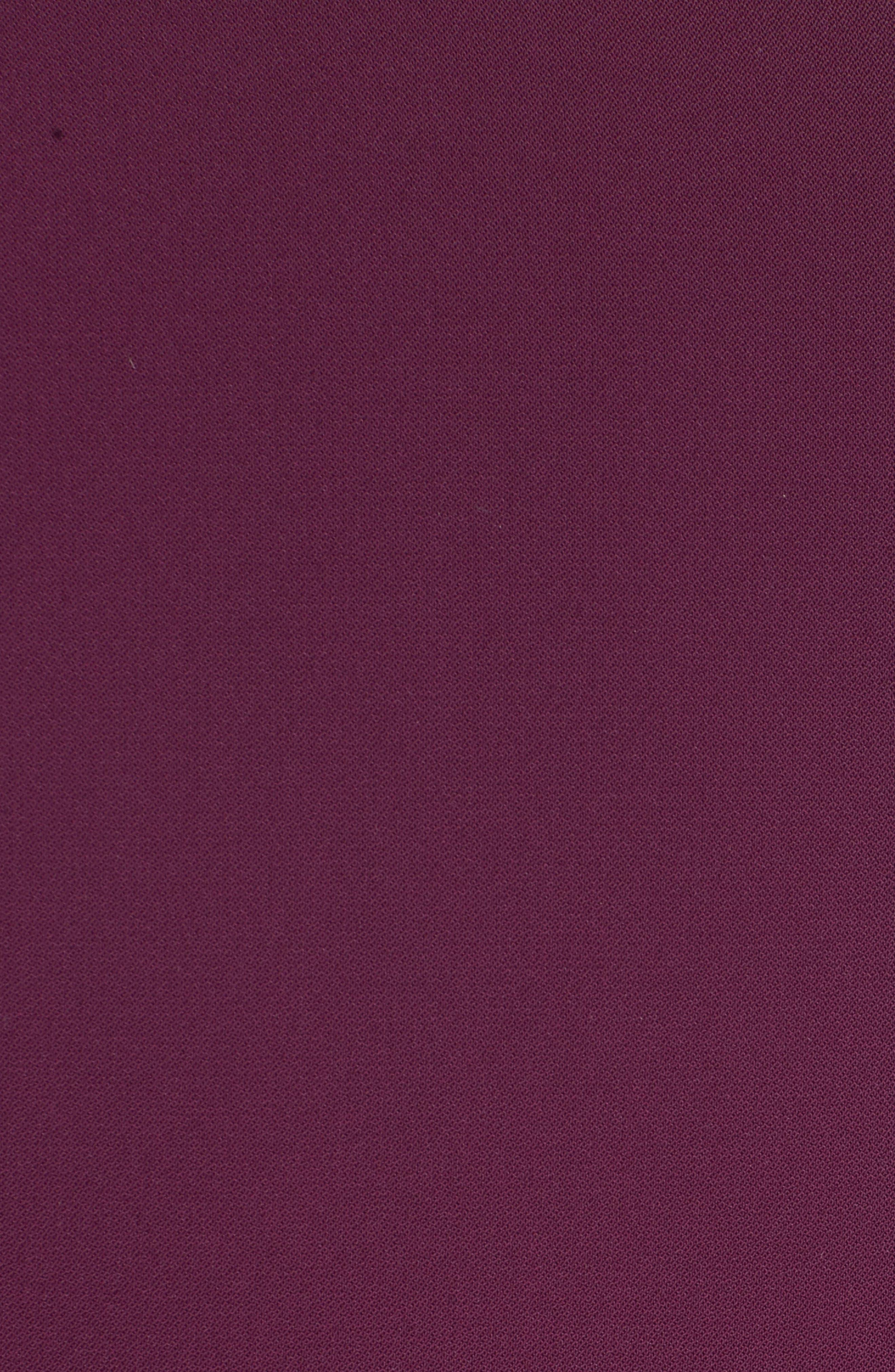 Ruffle Front Peplum Jacket,                             Alternate thumbnail 5, color,                             Deep Purple