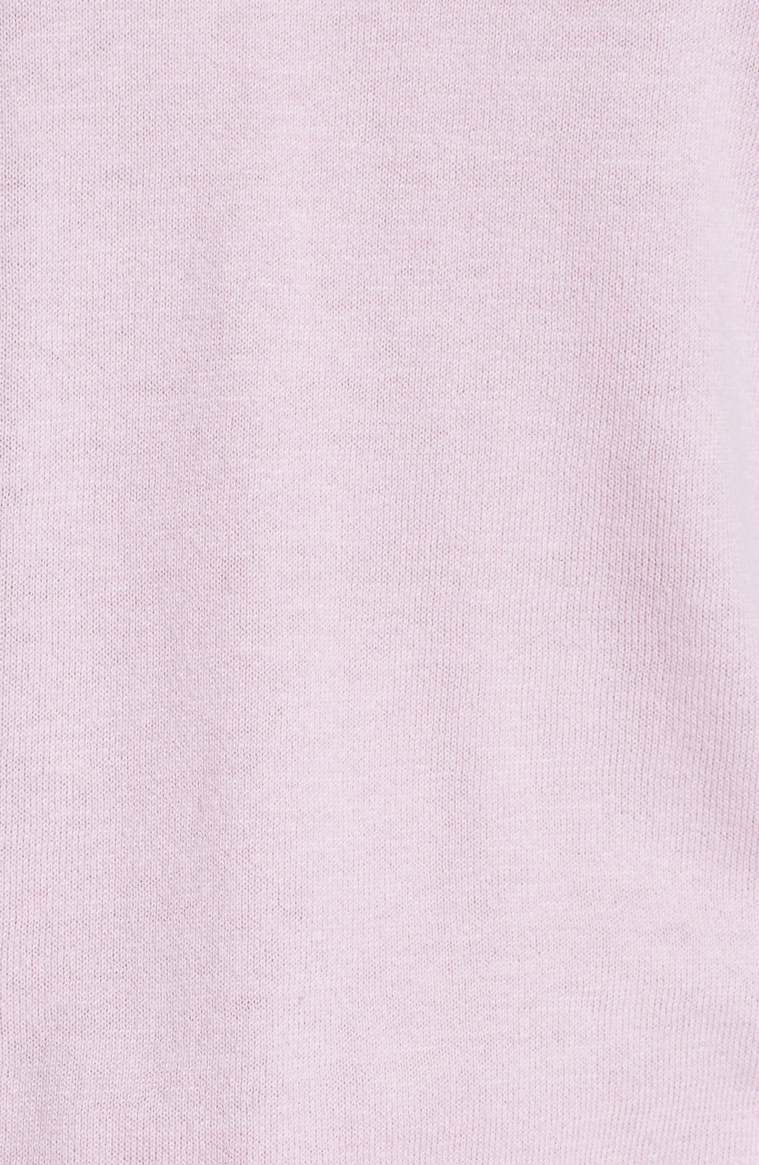 Kaleese Serenity Pleat Back Silk Cotton Sweater,                             Alternate thumbnail 5, color,                             Lilac