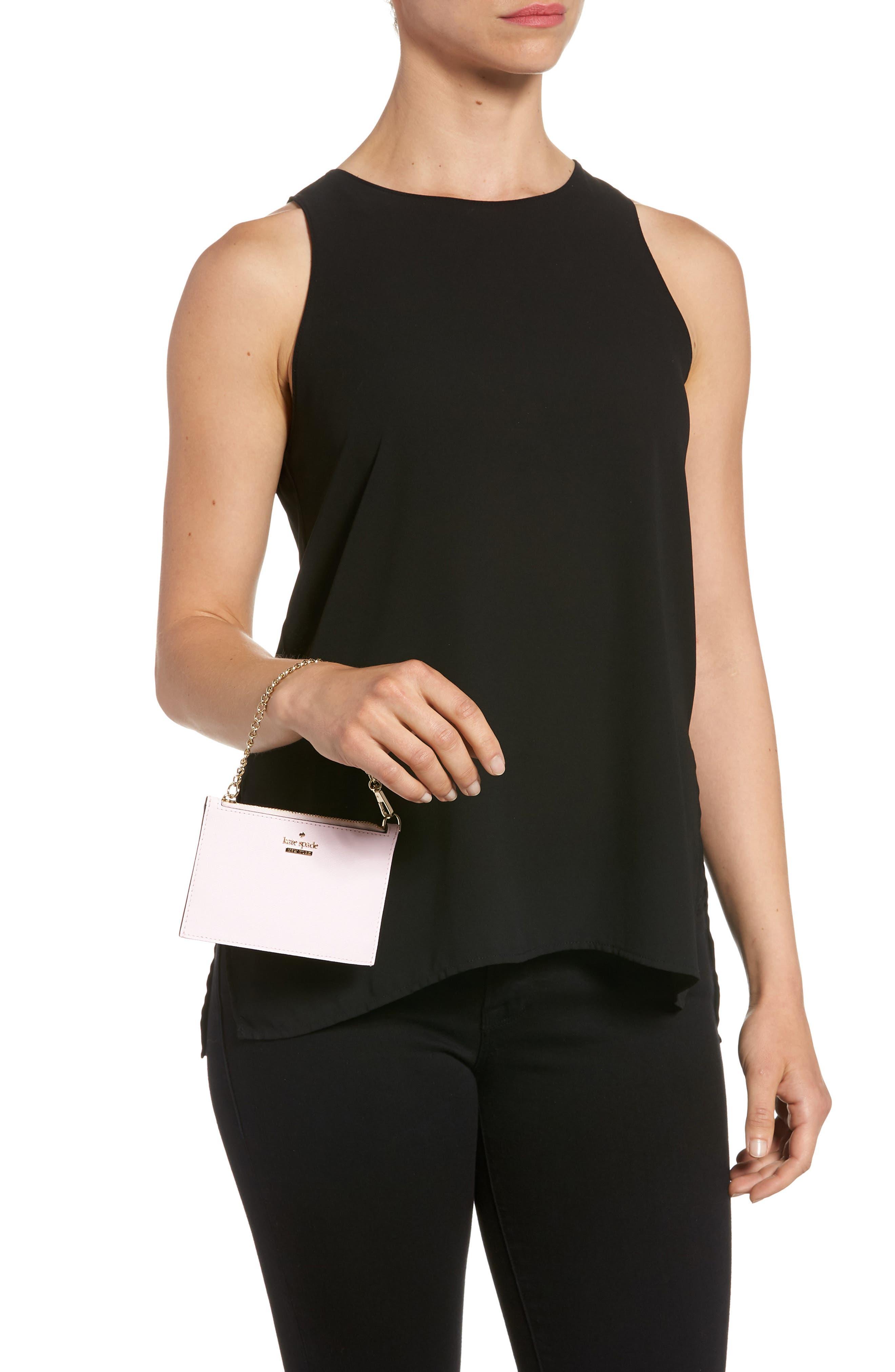 cameron street caroline leather zip pouch,                             Alternate thumbnail 2, color,                             Pink Lemonade