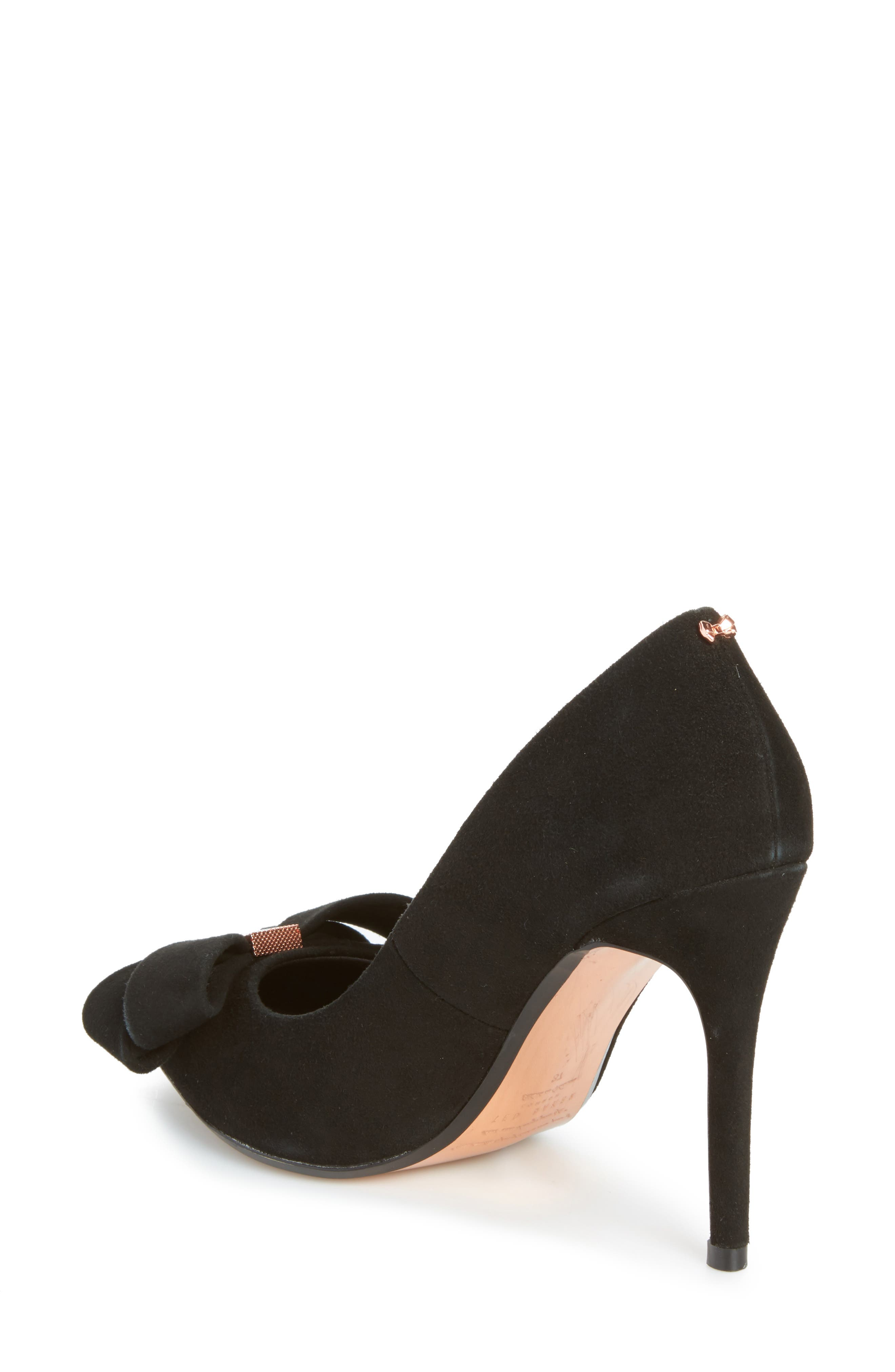 Skalett Pump,                             Alternate thumbnail 2, color,                             Black Suede