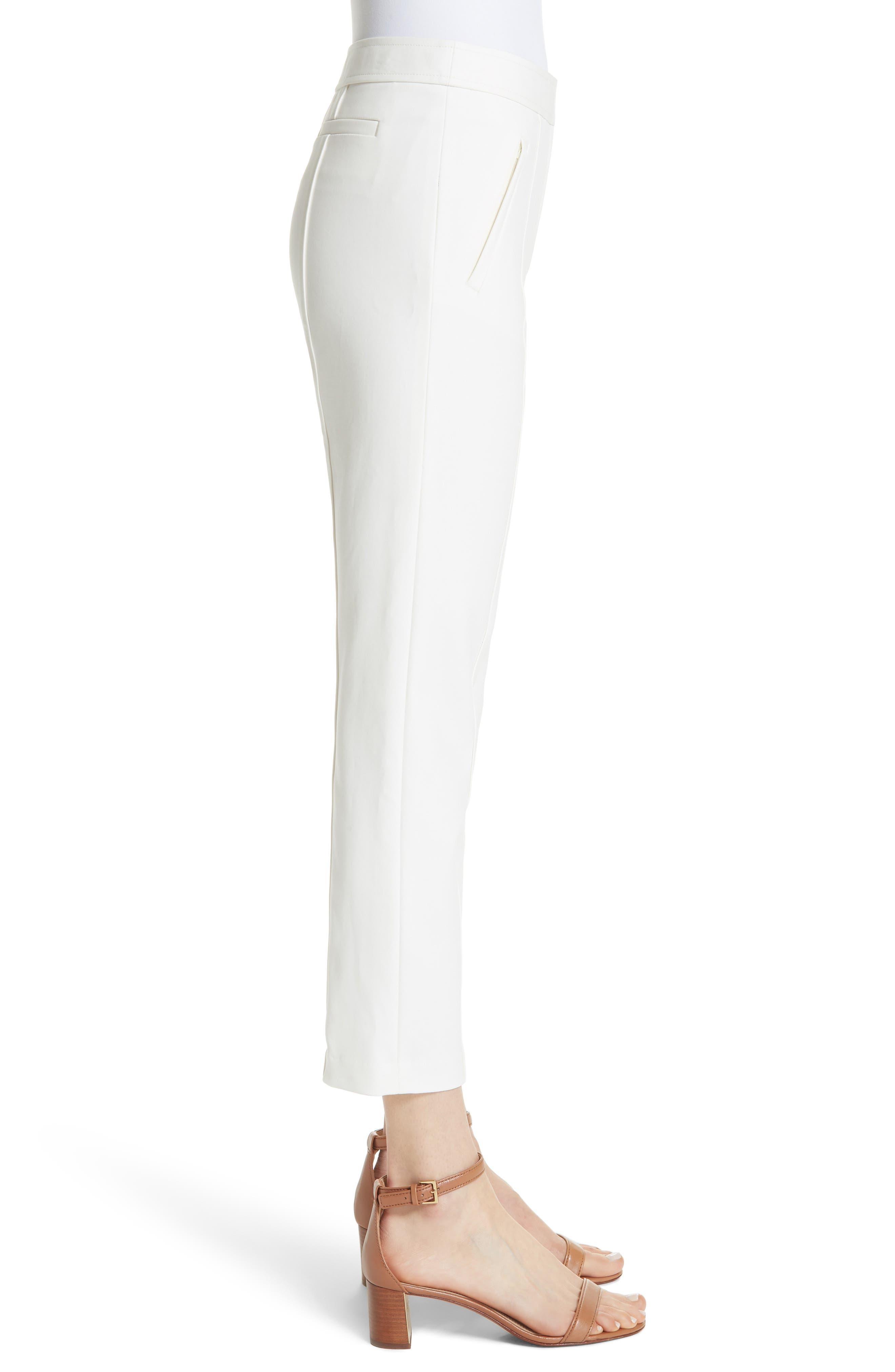 Vanner Slim Leg Ankle Pants,                             Alternate thumbnail 5, color,                             New Ivory
