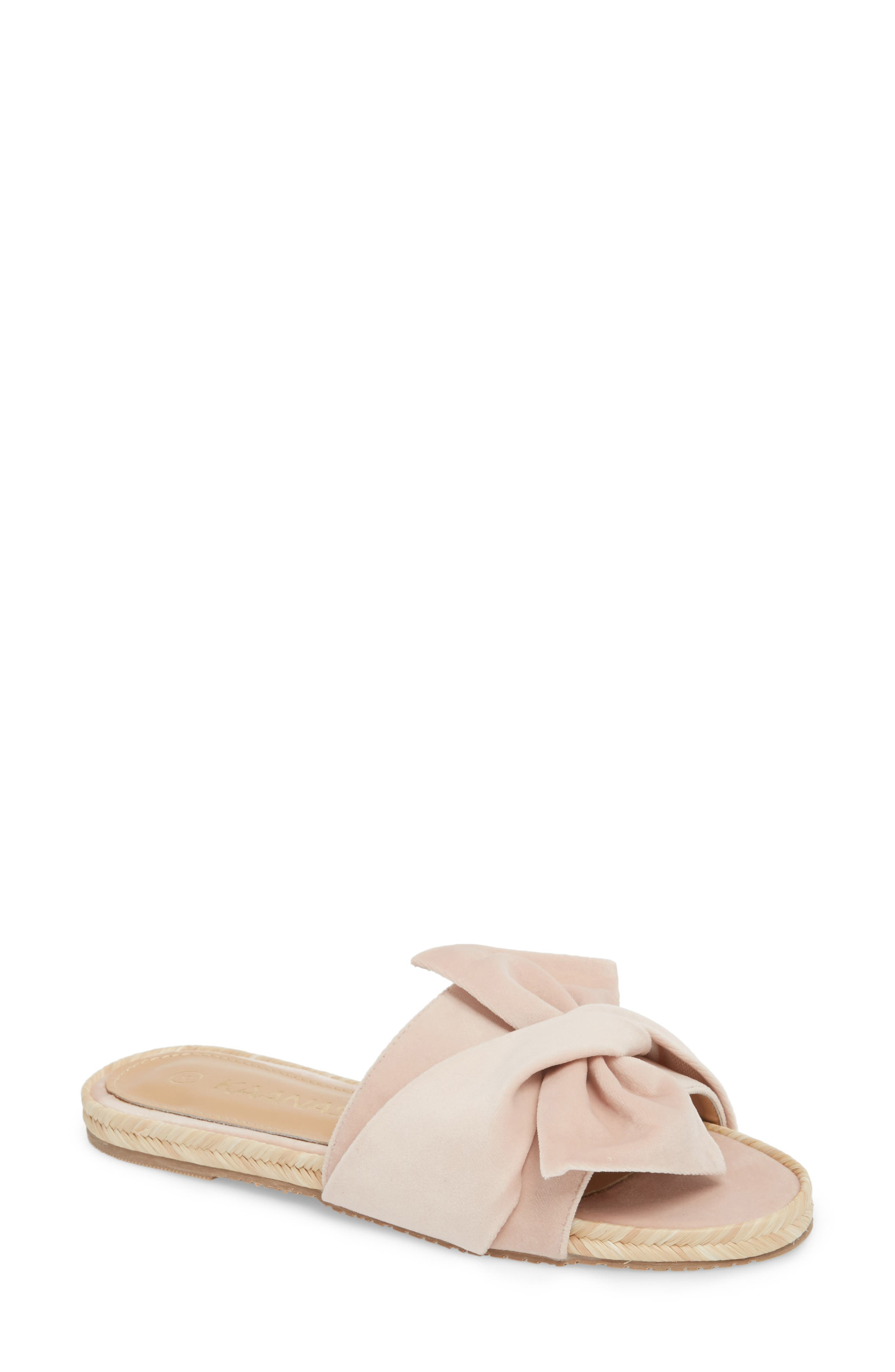 Sausalito Knotted Slide Sandal,                             Main thumbnail 1, color,                             Nude