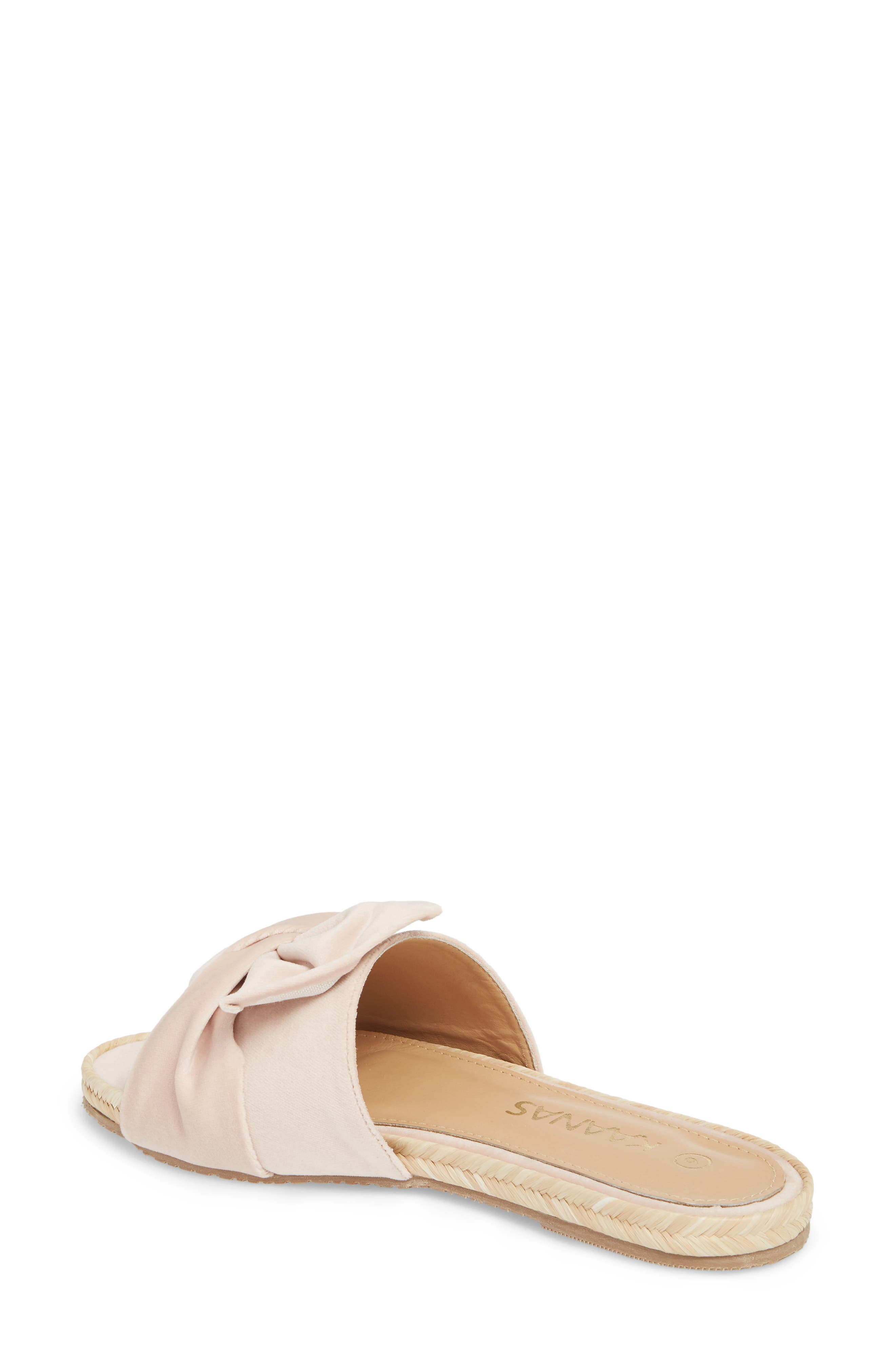 Sausalito Knotted Slide Sandal,                             Alternate thumbnail 2, color,                             Nude