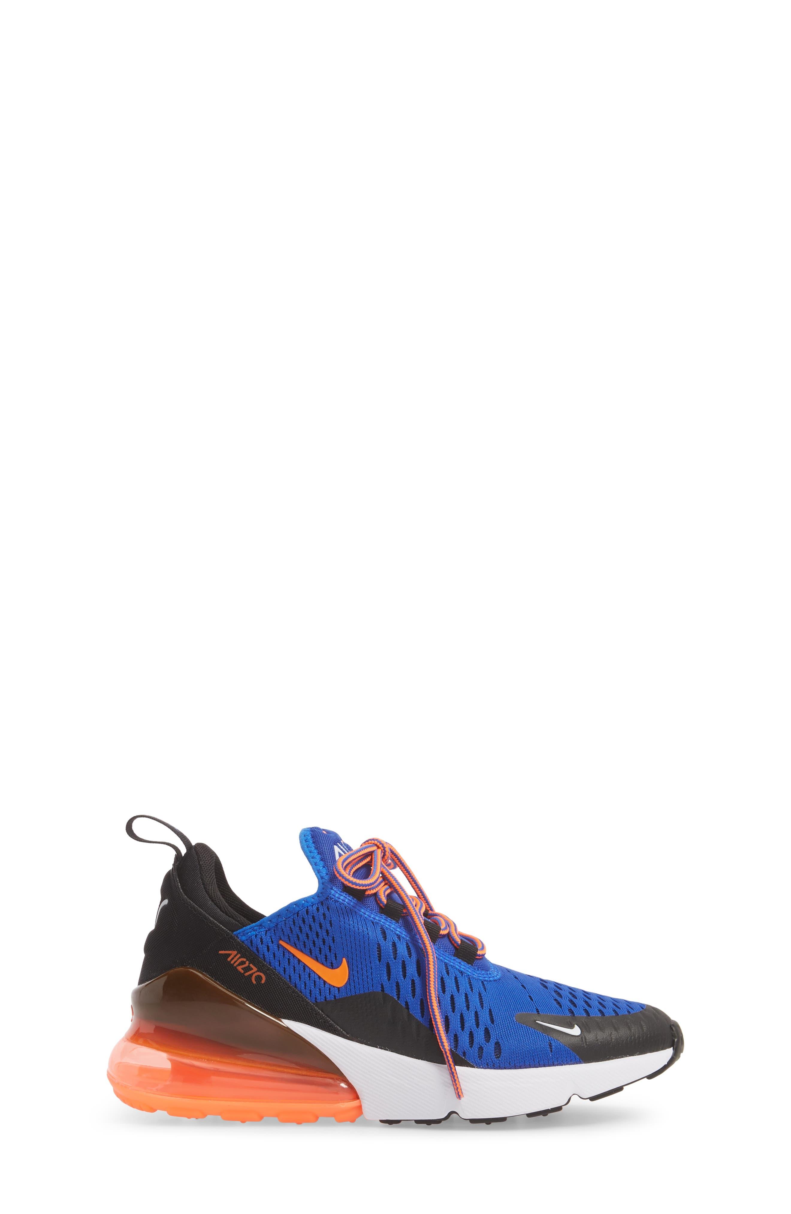 Air Max 270 Sneaker,                             Alternate thumbnail 3, color,                             Racer Blue/ Crimson/ Black