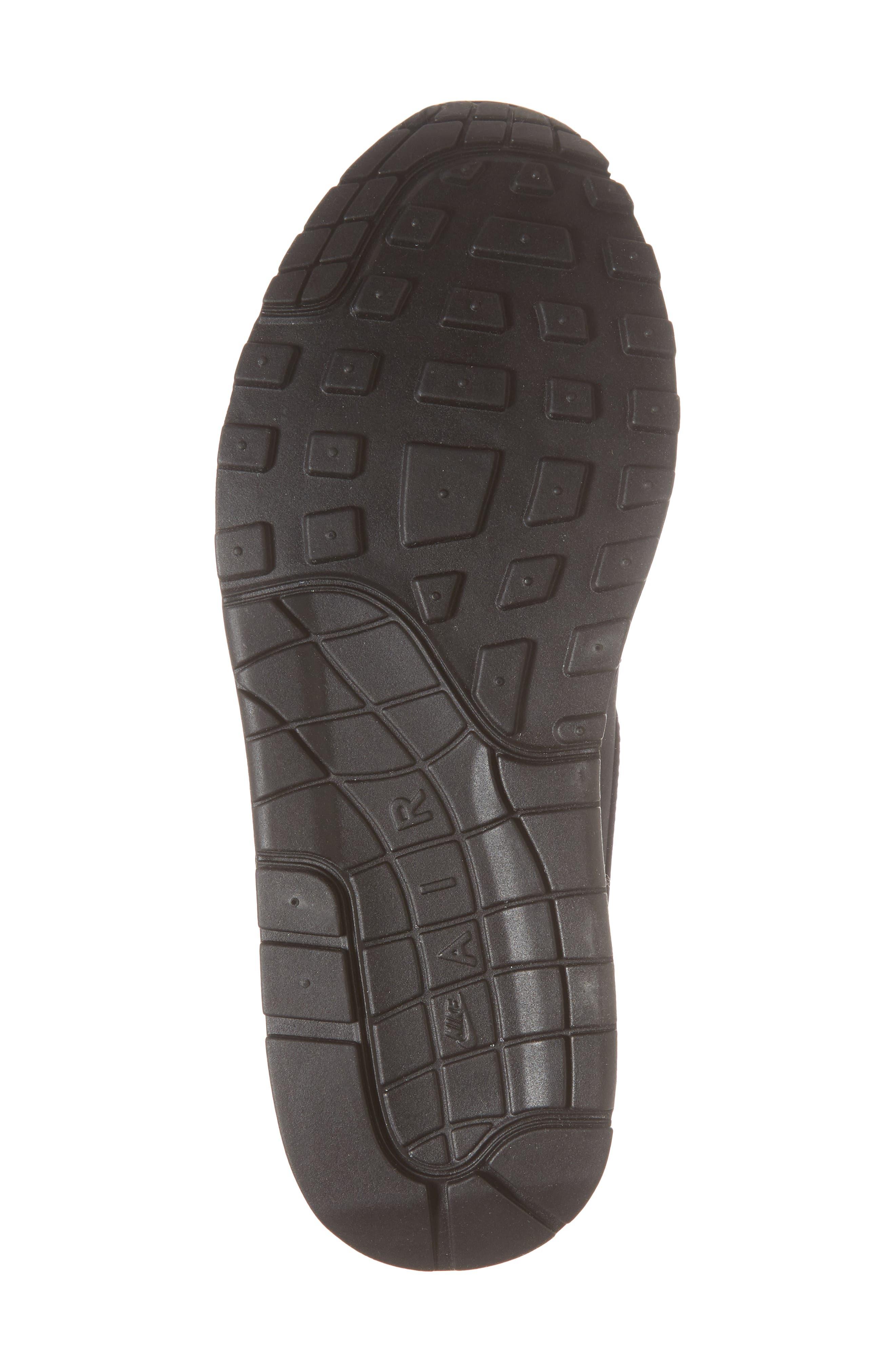 Air Max 1 SE Sneaker,                             Alternate thumbnail 6, color,                             Black/ Anthracite/ White