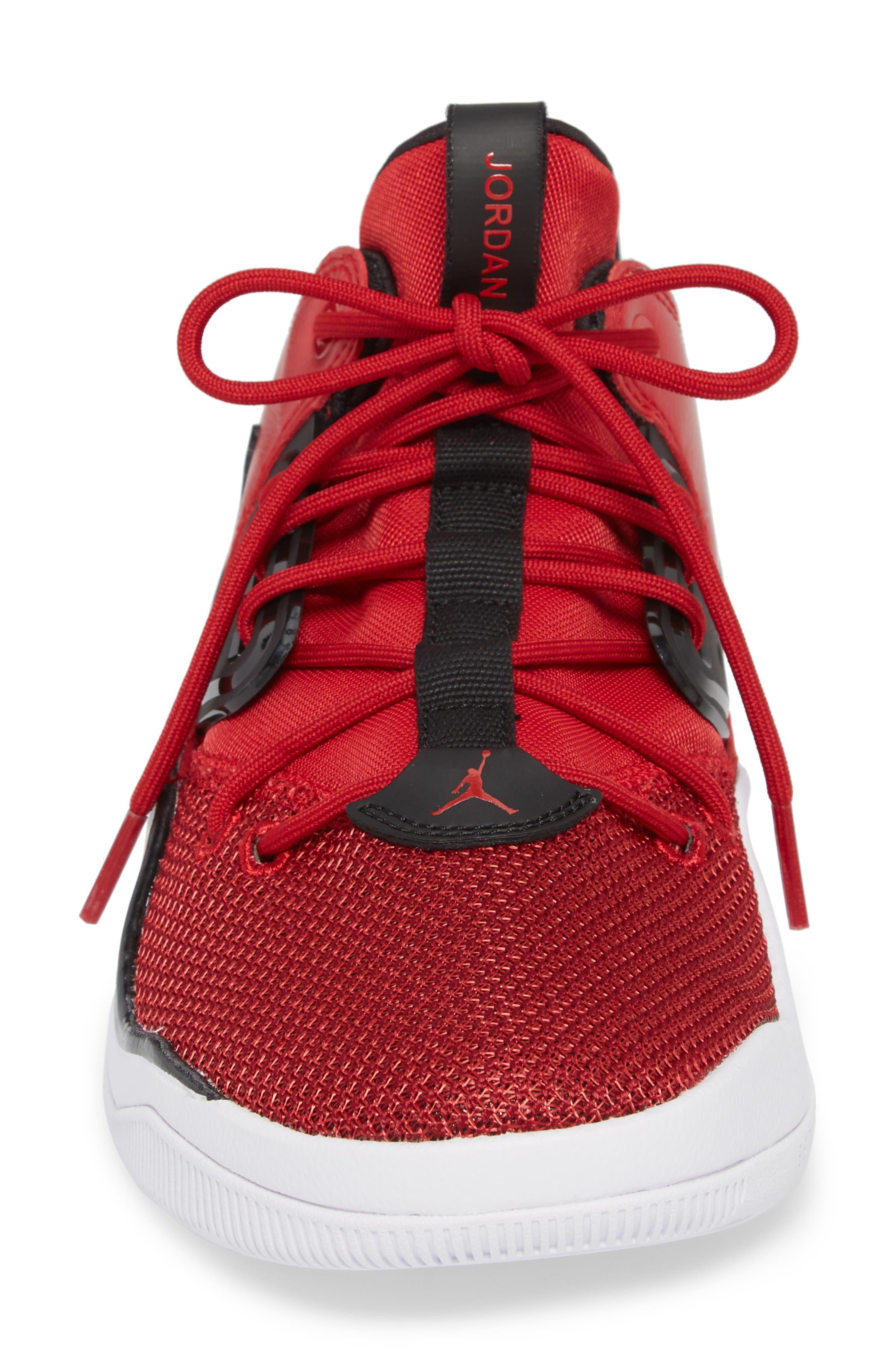 Jordan DNA Sneaker,                             Alternate thumbnail 5, color,                             Gym Red/ Black/ White